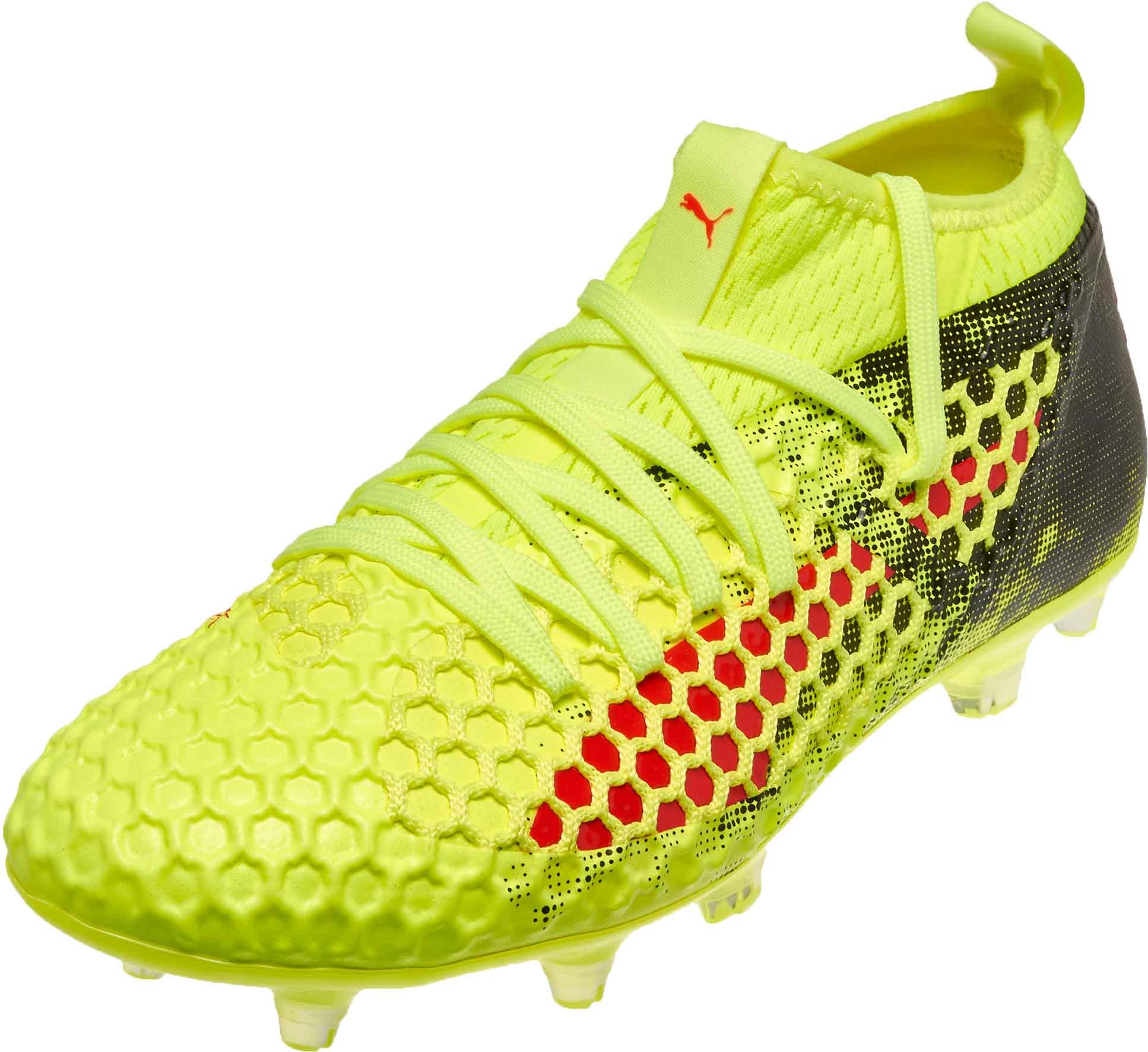 c29d1ba9656 Puma Future 18.2 Netfit FG - Fizzy Yellow   Red Blast - Soccer Master