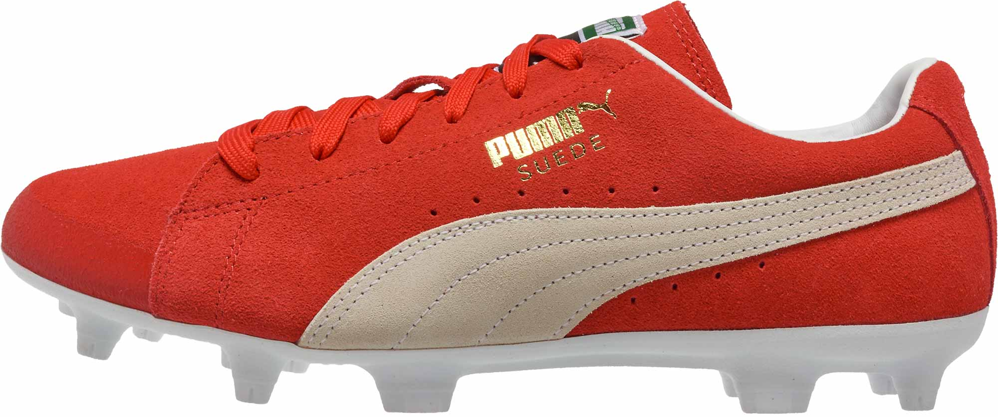 Puma Future Suede FG - 50th Anniversary - Red   White - Soccer Master 4495a705e51