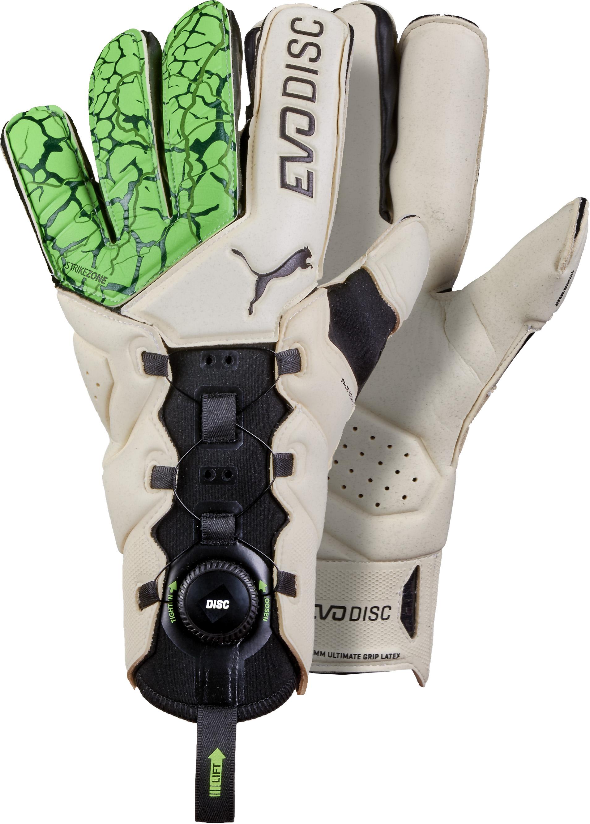 Puma evoDisc Goalkeeper Gloves - Green Gecko   Puma White - Soccer ... c0393042c6