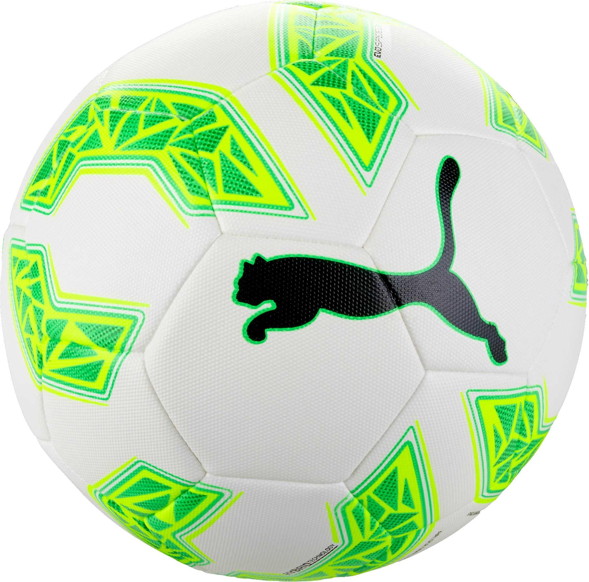 Puma evoSPEED 2.5 Hybrid Soccer Ball - White   Green Gecko ... 426d7babe