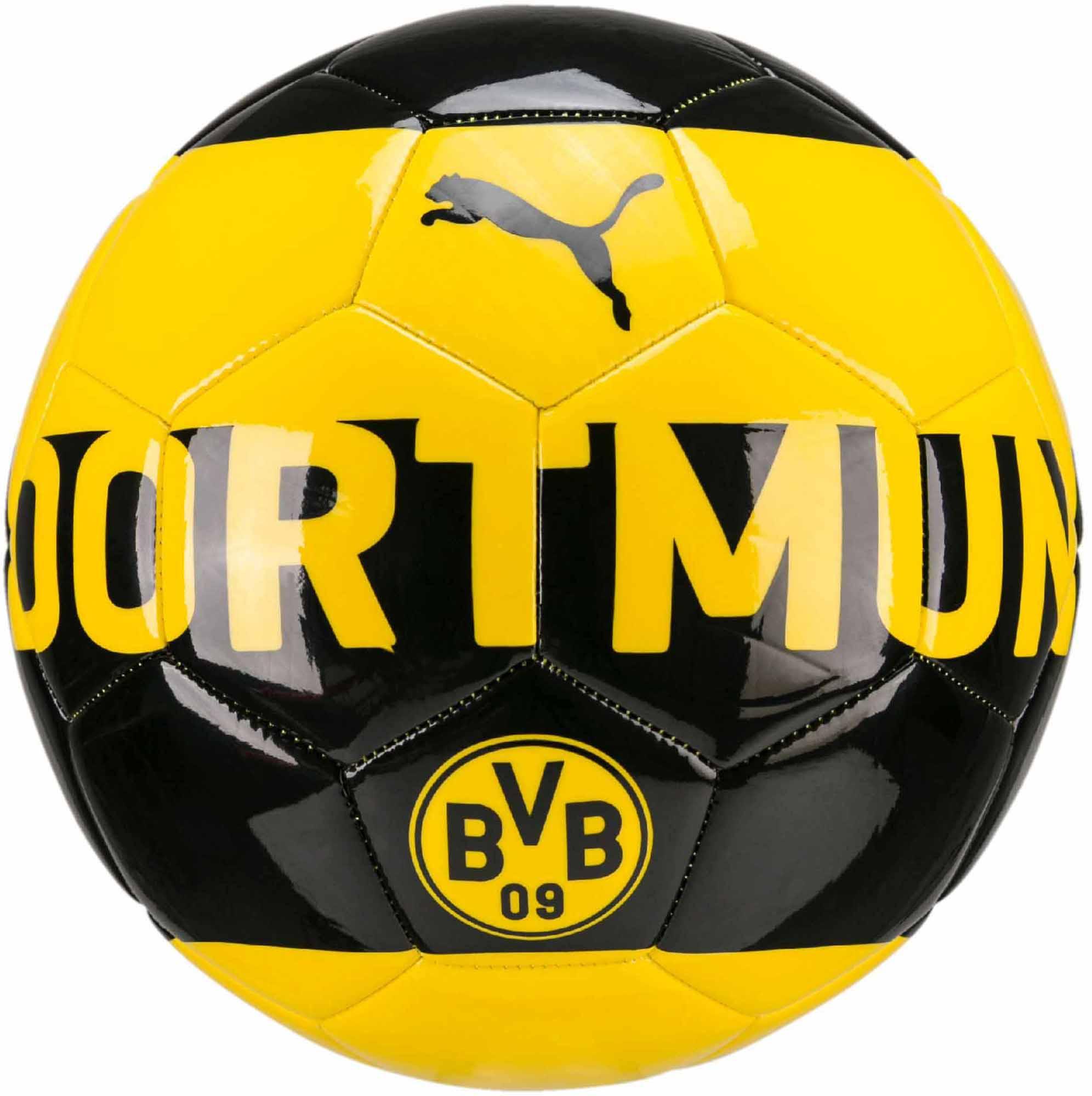Puma Borussia Dortmund Soccer Ball - Cyber Yellow   Black - Soccer ... adf017219b