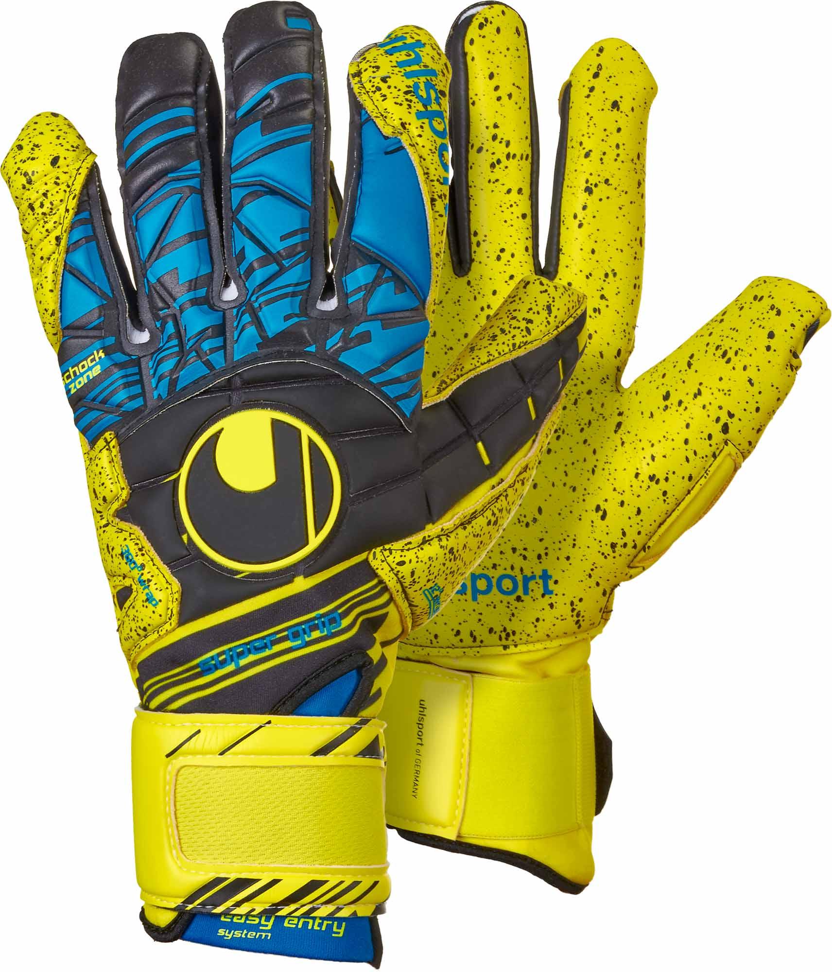 d661680ca Uhlsport Eliminator Supergrip HN Goalkeeper Gloves – Fluo Yellow   Black