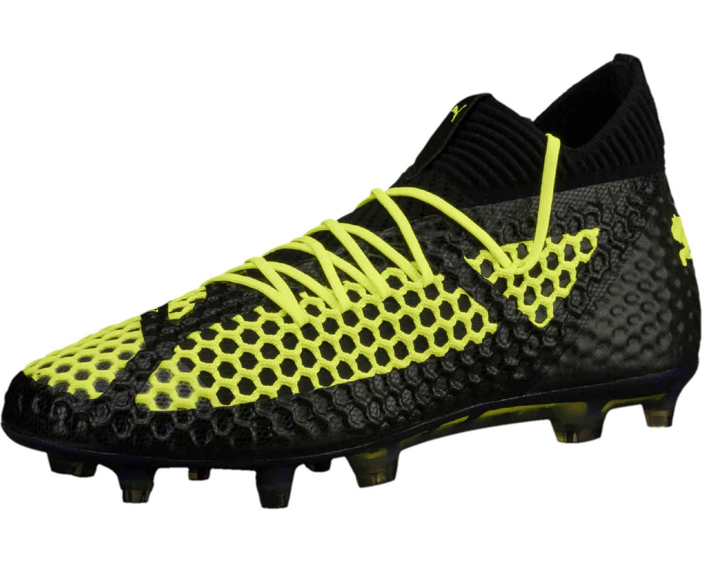 54590e5d6b6 Puma Future 18.1 Netfit FG - LE - Black   Fizzy Yellow - Soccer Master