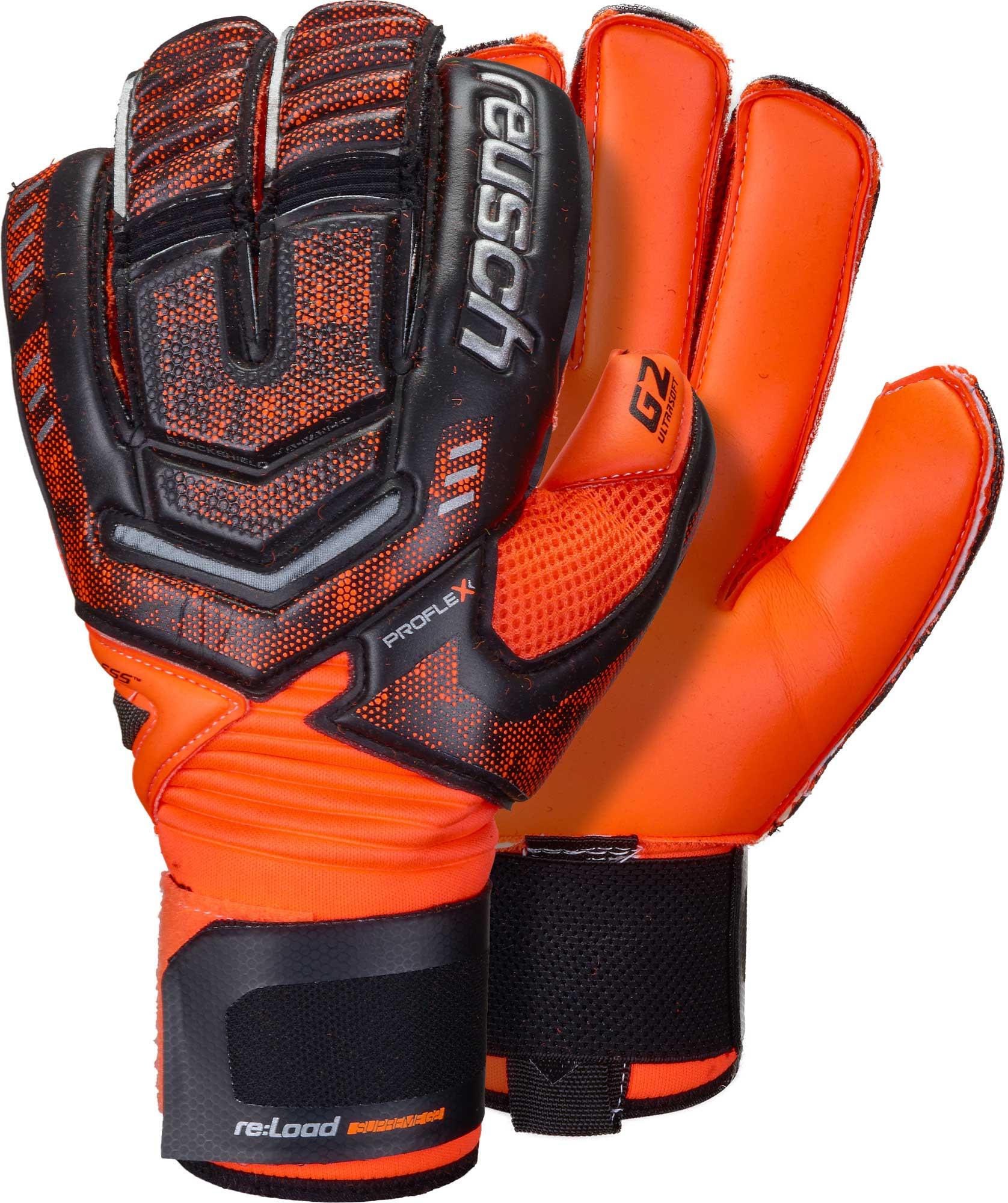 38d9b5aec Reusch RE:LOAD Supreme G2 Goalkeeper Gloves - Black/Shocking Orange ...