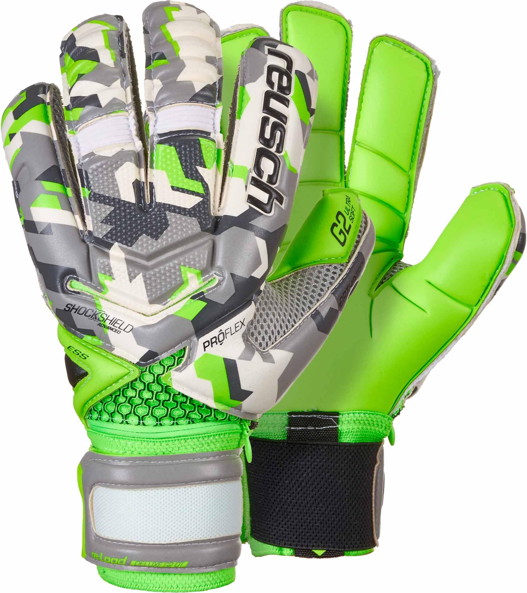 55932156b Reusch Re Load Pro G2 Ortho-Tec Goalkeeper Gloves - Camo - Soccer Master