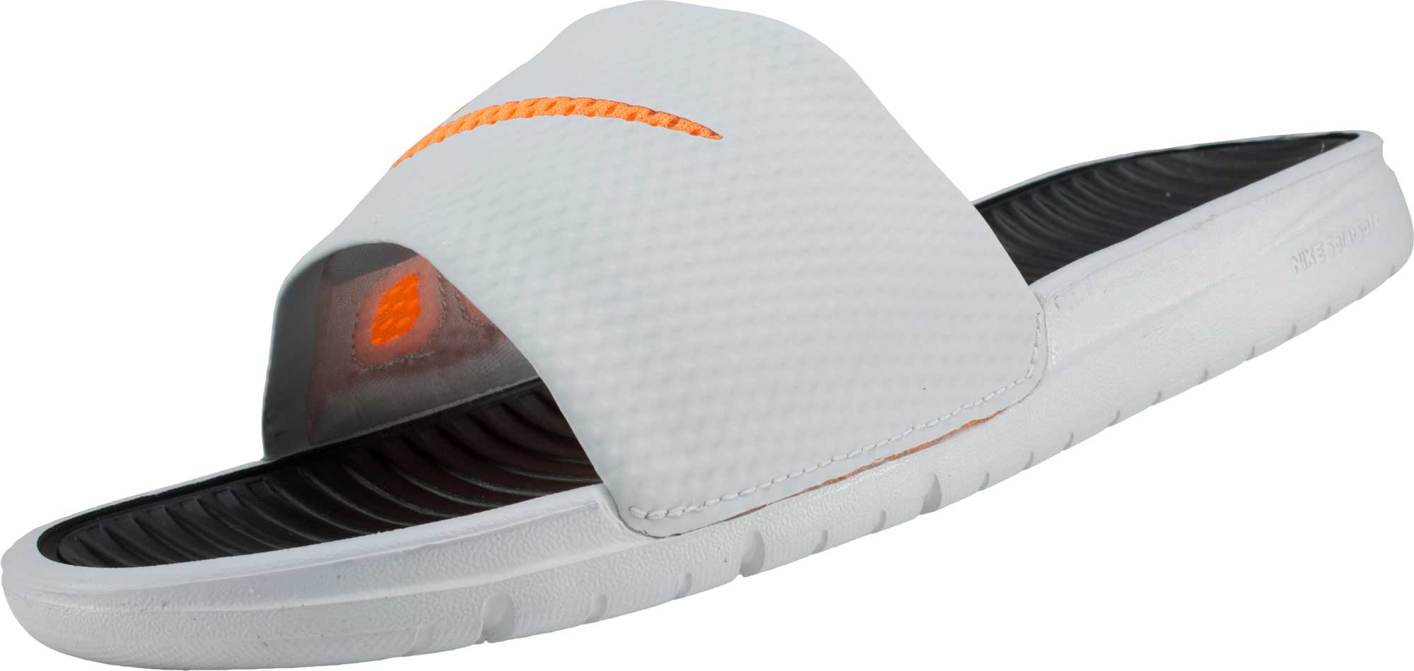 ba36d43a7701 Nike Benassi Solarsoft Slide - Base Grey with Black - Soccer Master