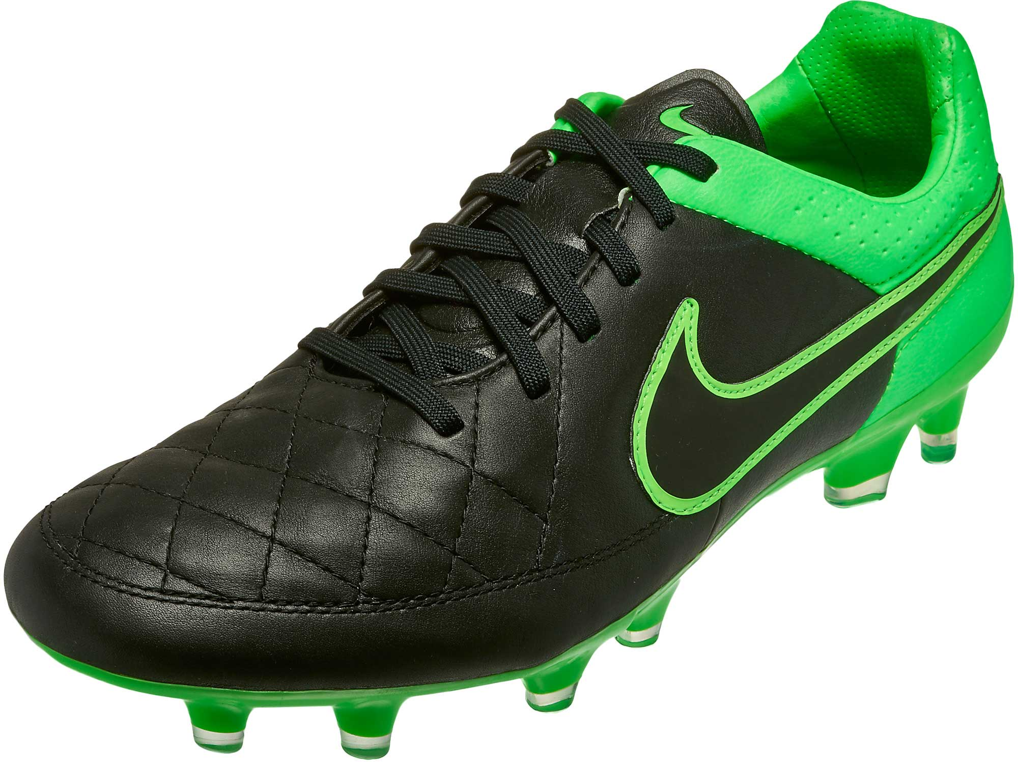 online store d83da 0fe94 Nike Tiempo Legend V FG Soccer Cleats - Black and Green