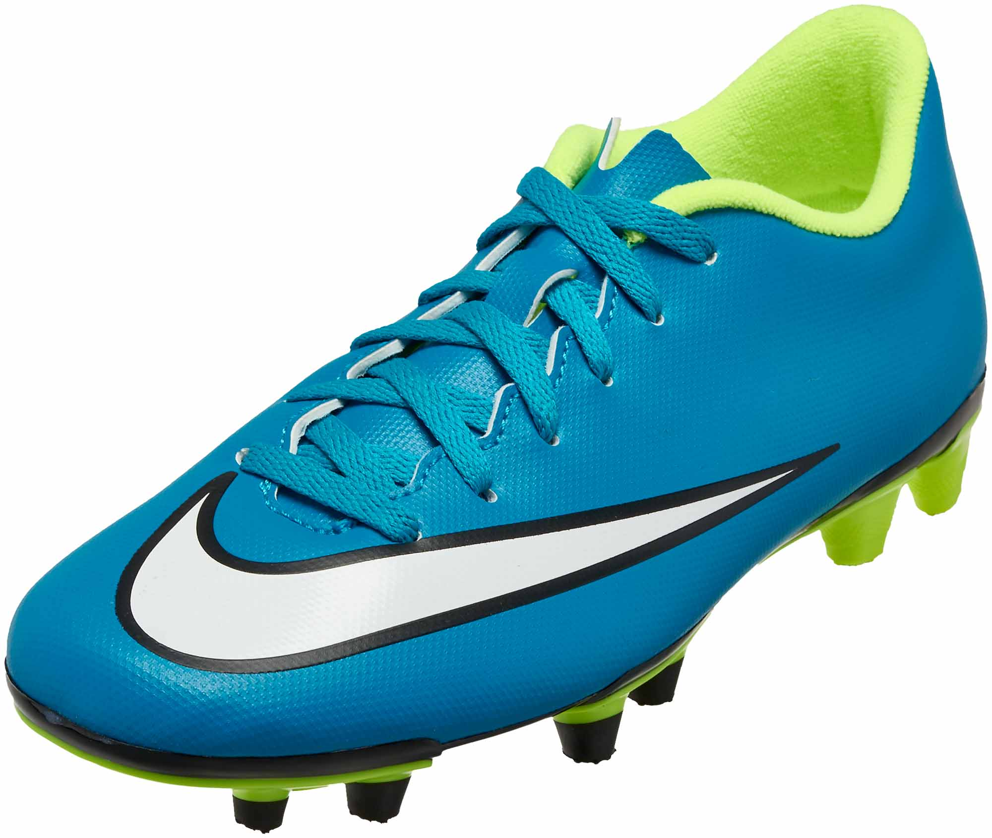 Nike Womens Mercurial Vortex II FG Soccer Cleats - Blue and White ... f6f95a1186a5