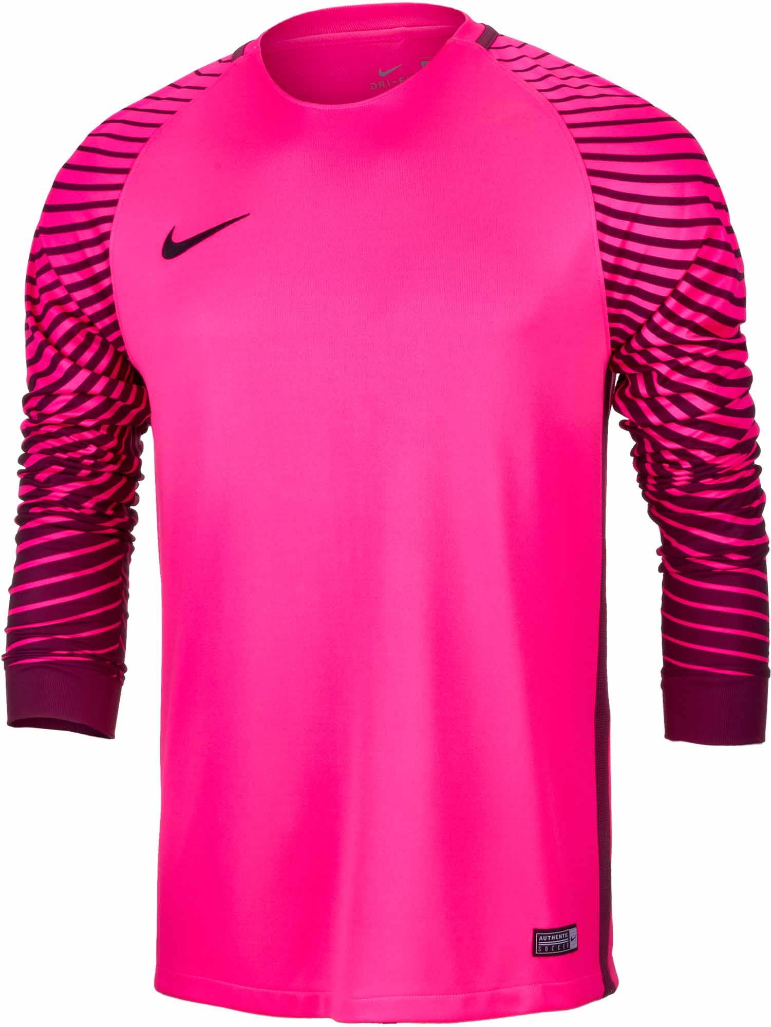 Nike Gardien Goalkeeper Jersey - Hyper Pink & Villain Red ...