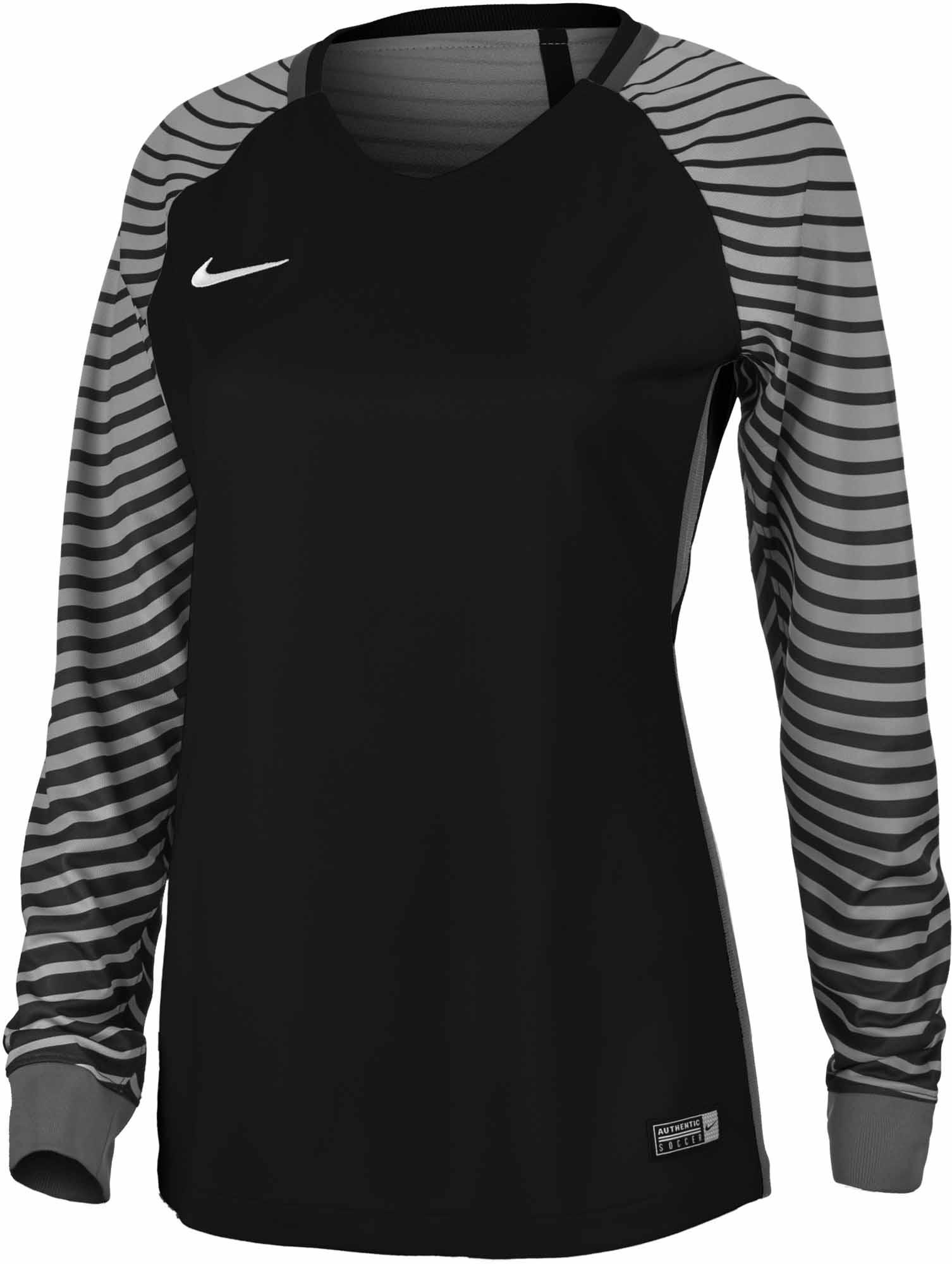 d04d5d4ec Nike Womens Gardien Goalkeeper Jersey - Black   Cool Grey - Soccer ...
