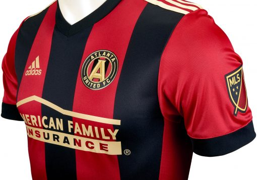 pretty nice 5c1ba 59afb adidas Atlanta United Authentic Home Jersey 2017-18 - Soccer ...