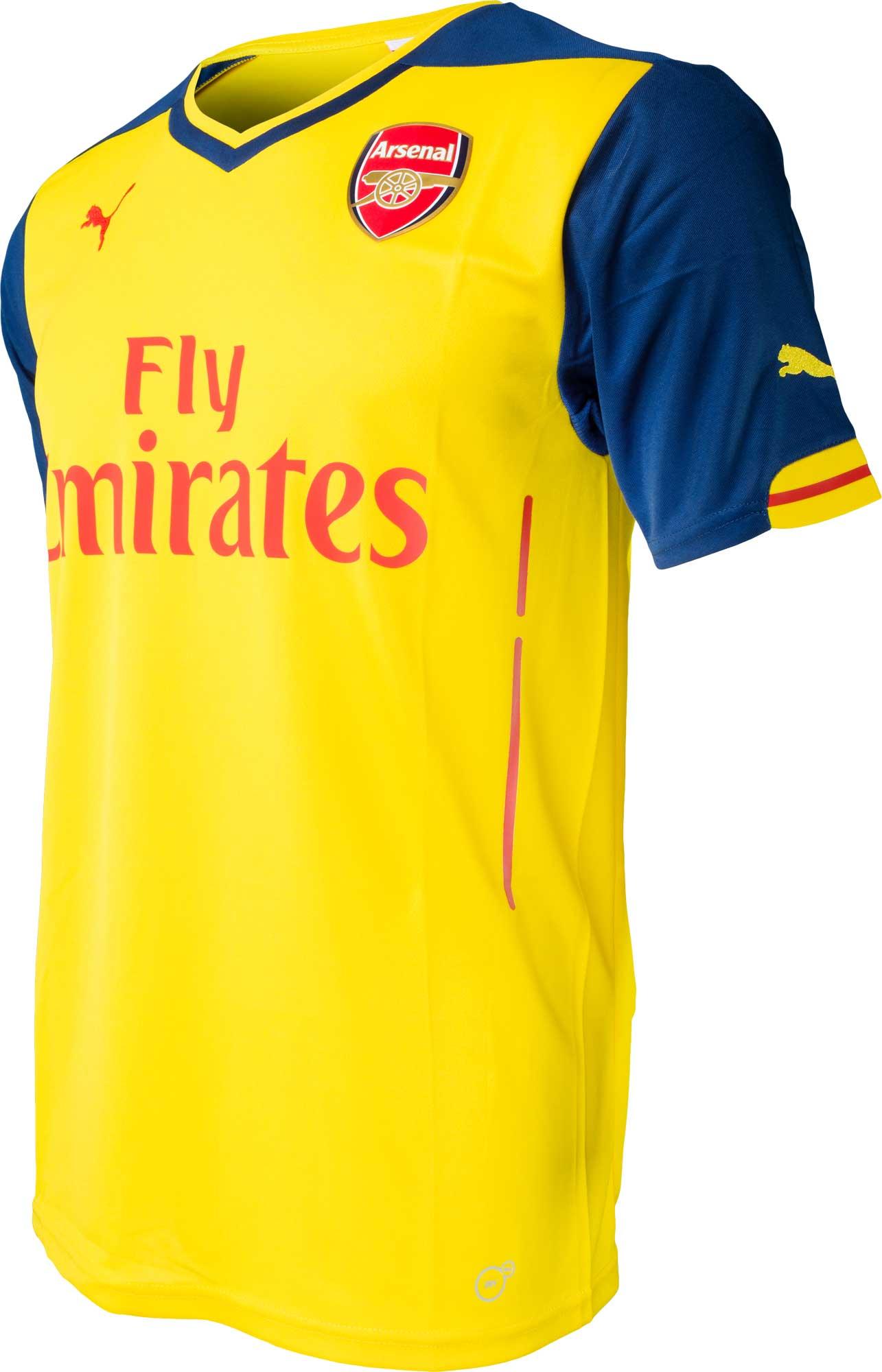 official photos efaa6 0acc0 PUMA Arsenal Away Jersey 2014-2015