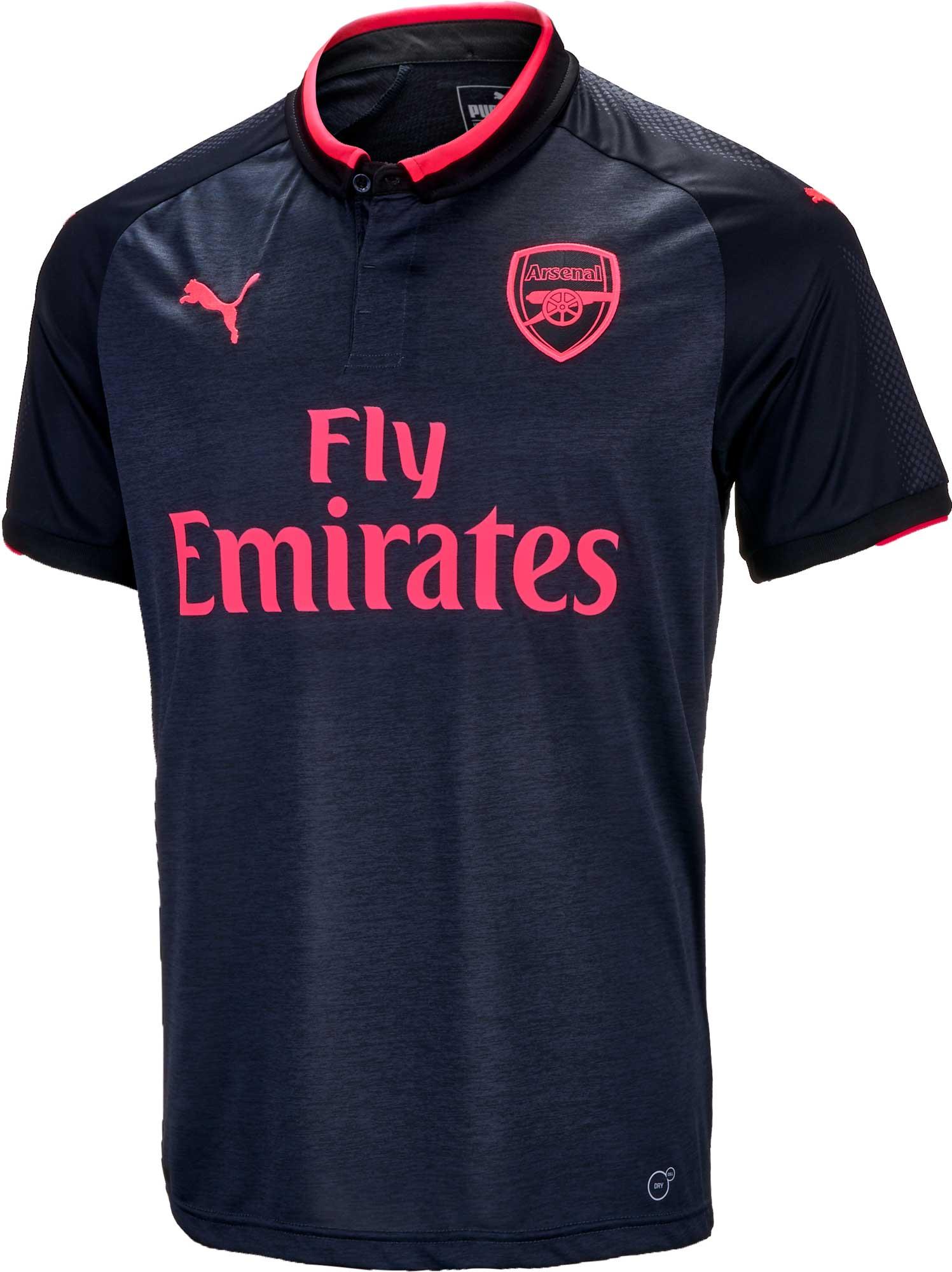 detailed look 100b8 301c9 2017/18 Kids PUMA Arsenal 3rd Jersey