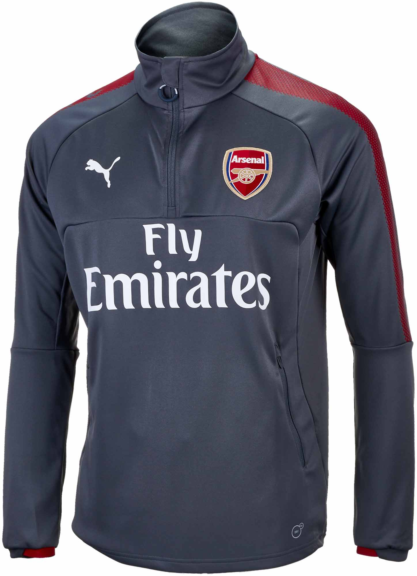 8ed7e18c567 Puma Arsenal 1 4 Zip Training Top - Dark Shadow - Soccer Master