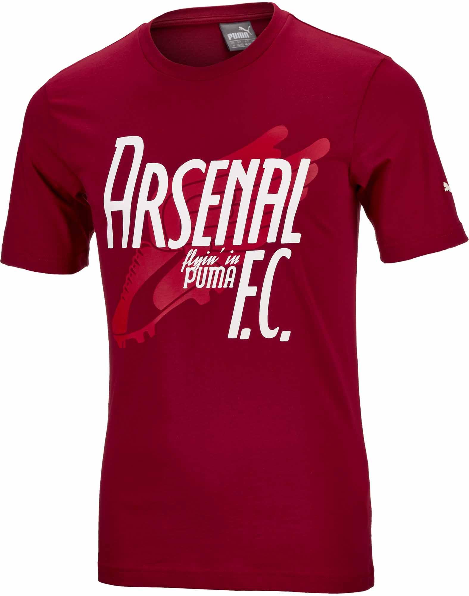 przedstawianie ceny detaliczne kody promocyjne Puma Arsenal Graphic Tee - Rio Red