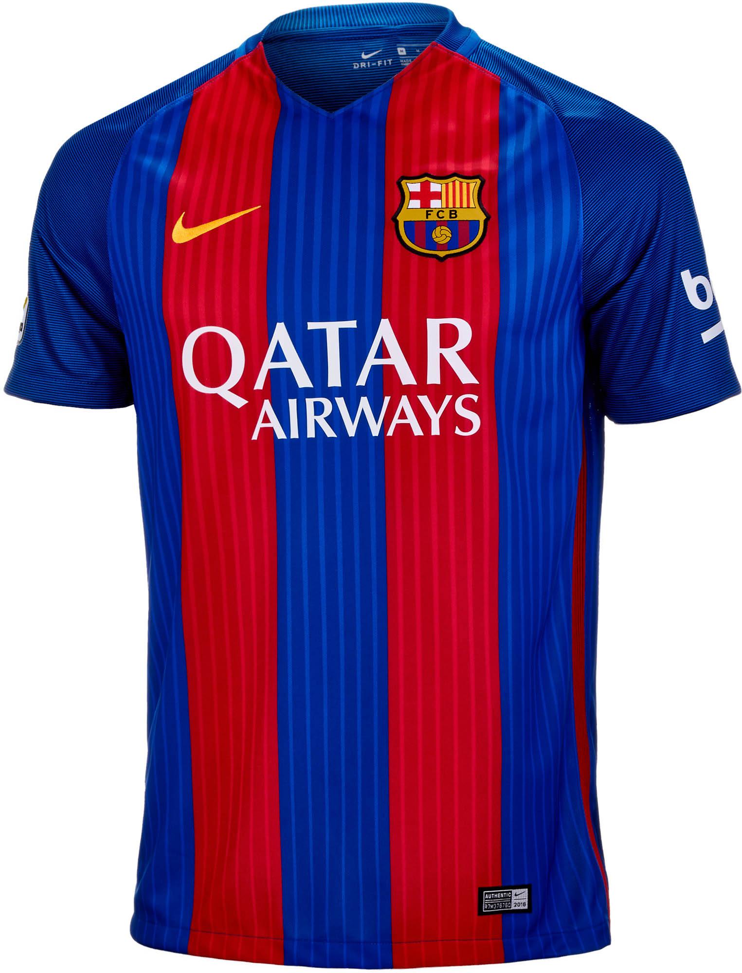 hacha exégesis Variedad  Nike Barcelona Home Jersey 2016-17 - Soccer Master