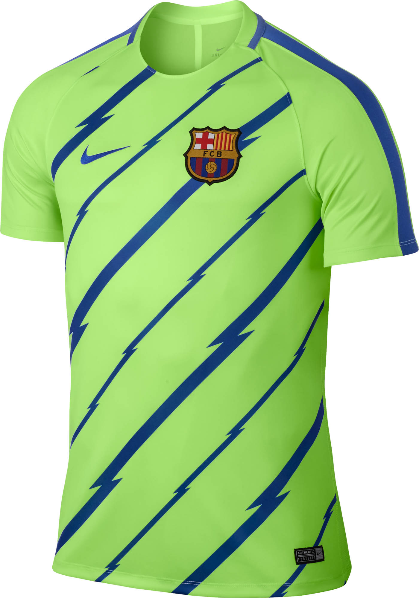 0be40cc444e Nike Barcelona Breathe Training Top - Ghost Green & Game Royal ...