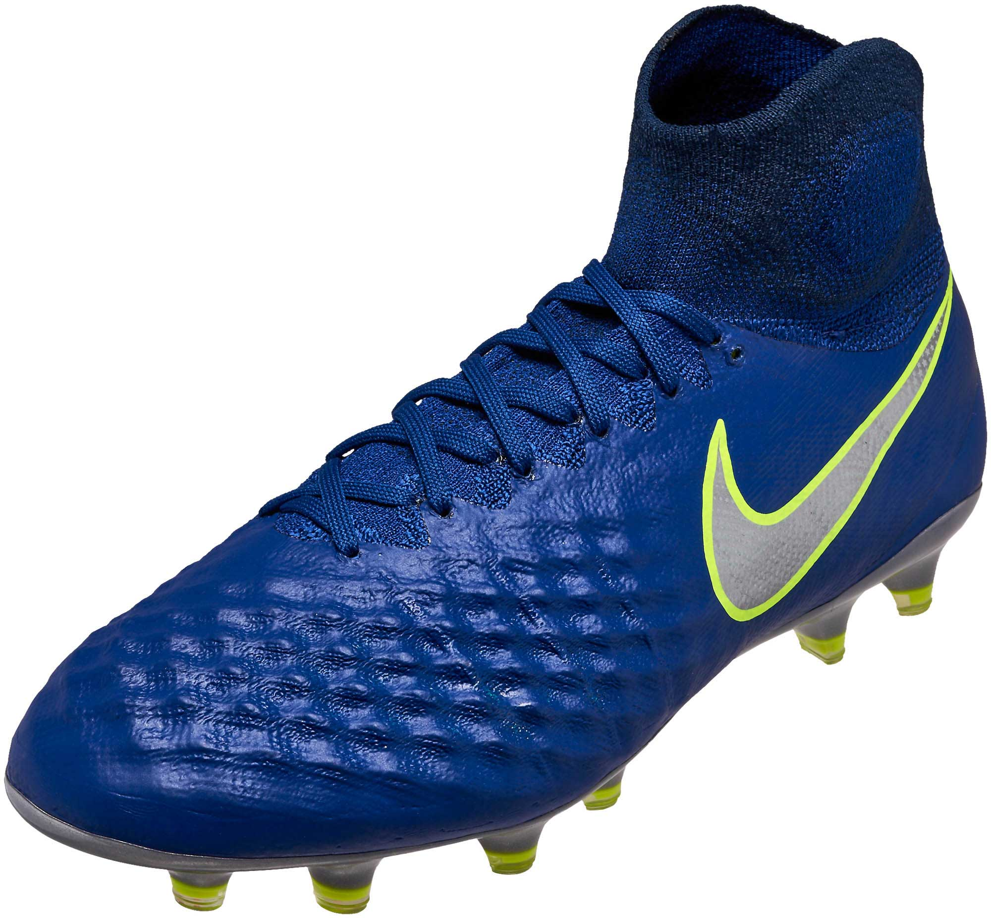 wholesale dealer ea277 26de6 Nike Magista Obra II FG Soccer Cleats – Deep Royal  Chrome