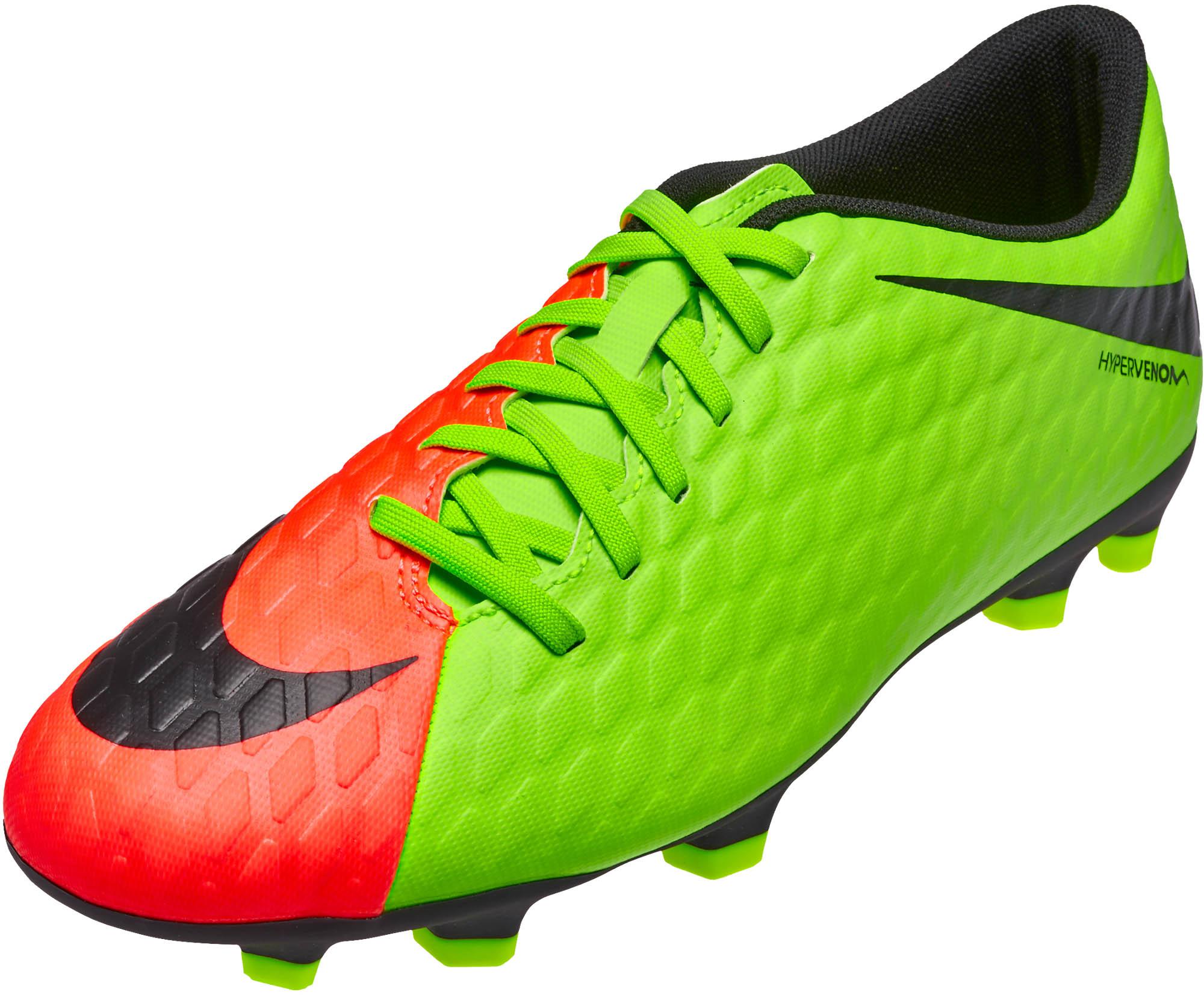 super popular 42785 c3003 Nike Hypervenom Phade III FG Soccer Cleats - Electric Green ...