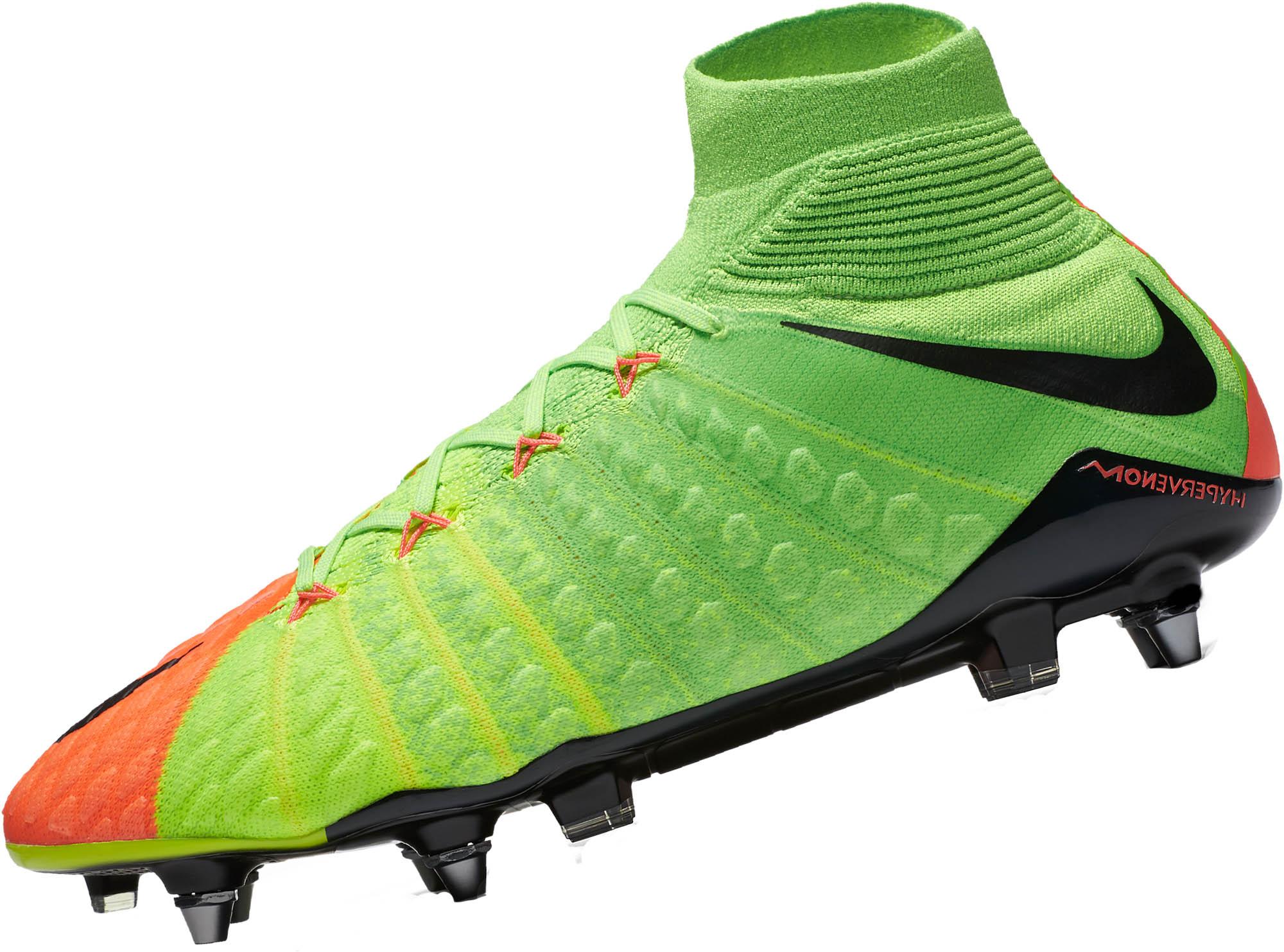 Estados Unidos código promocional amplia selección Nike Hypervenom Phantom DF III SG-Pro - Electric Green ...