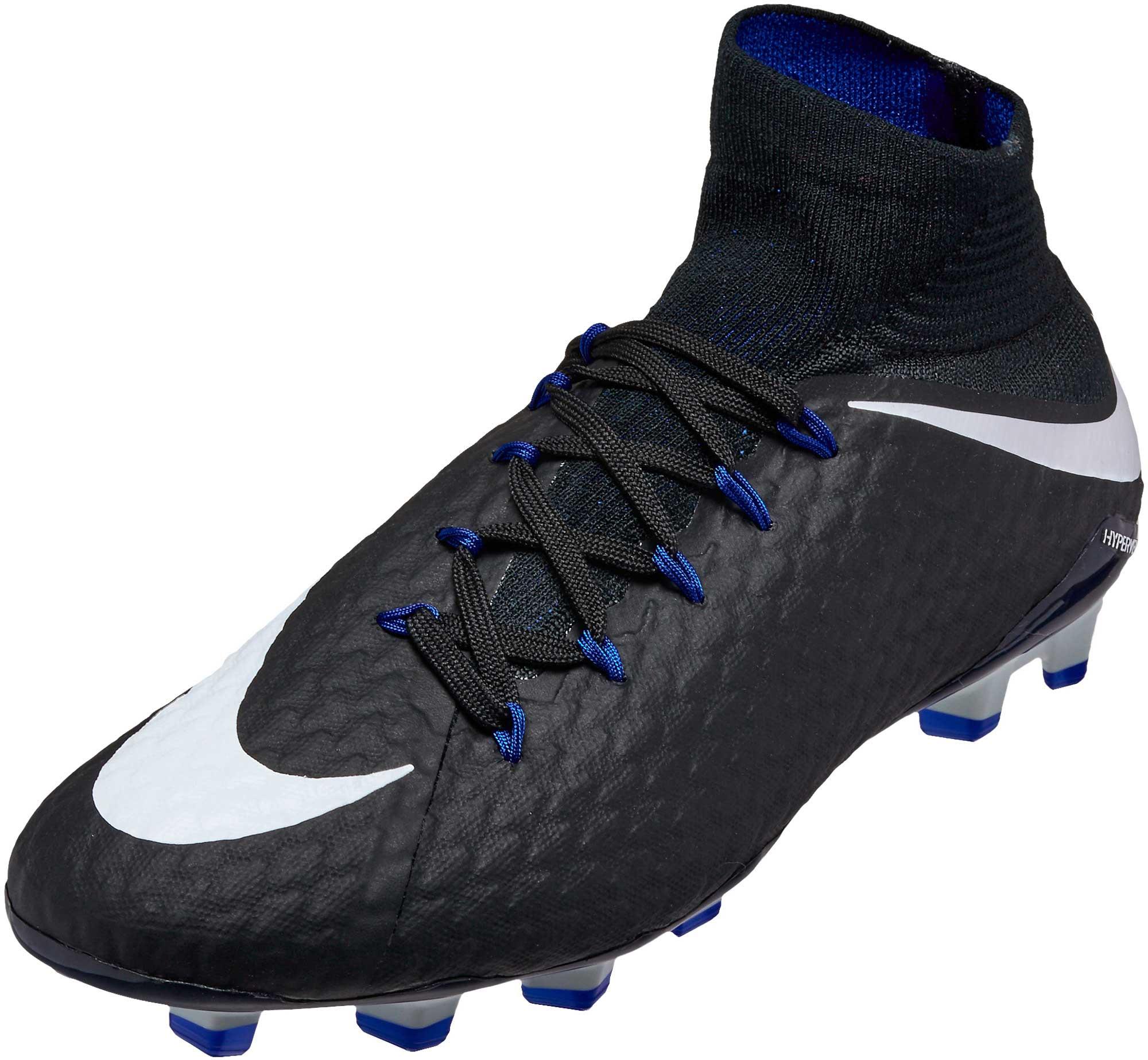 pretty nice dc50f 3523e Nike Hypervenom Phatal III DF FG Soccer Cleats - Black & White