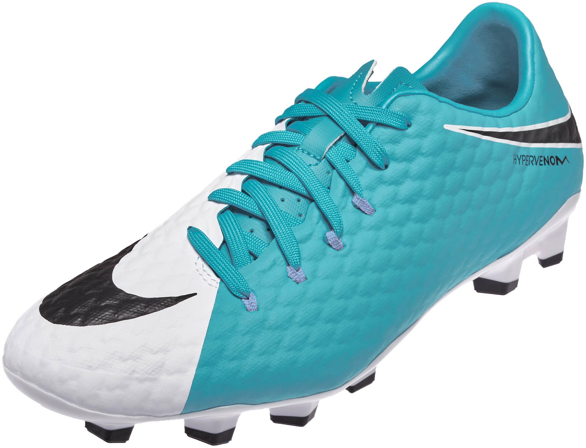 wholesale dealer 84fcc 9d8b9 Nike Hypervenom Phelon III FG Soccer Cleats – White  Photo Blue