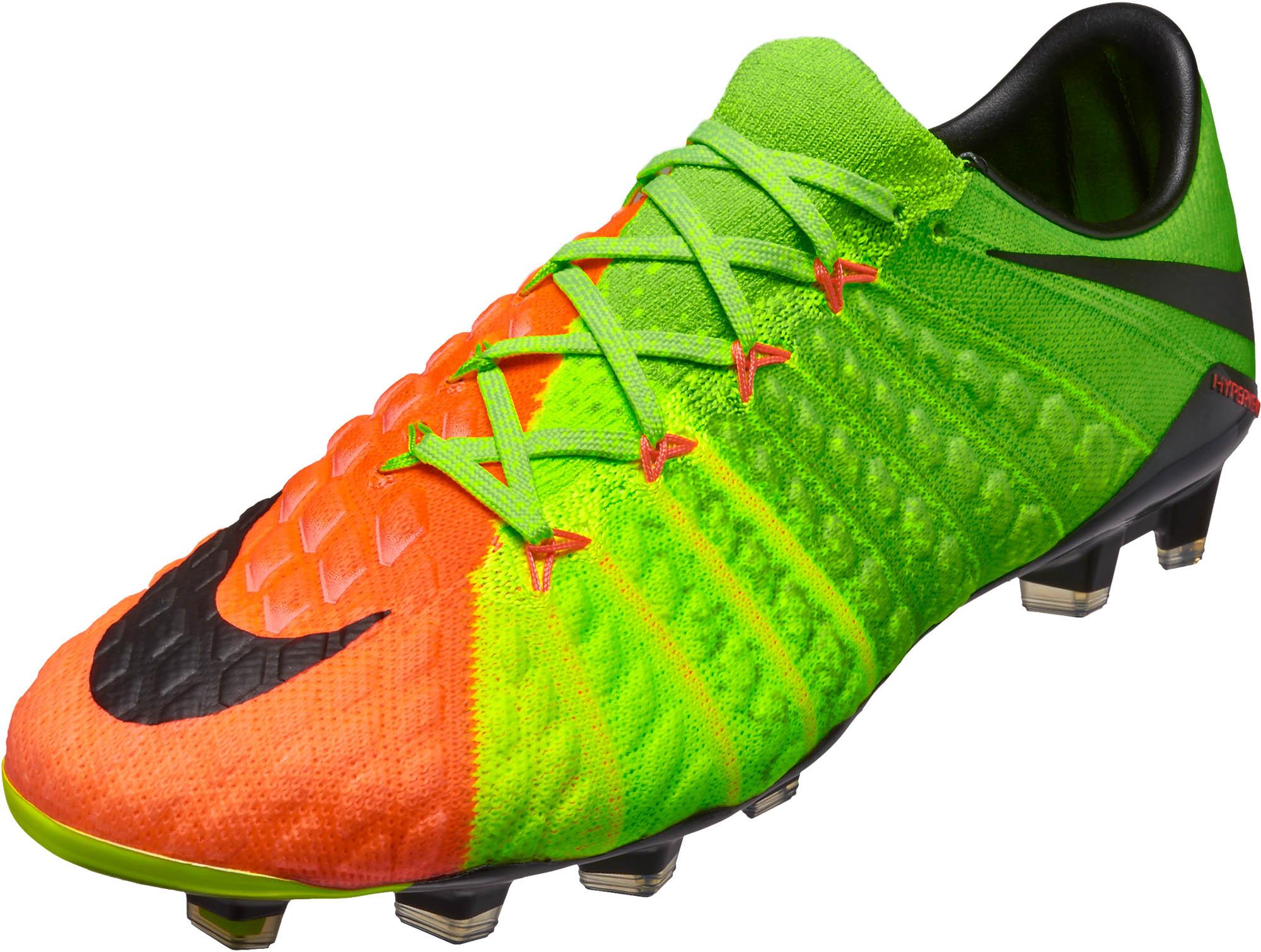 72703a38569 Nike Hypervenom Phantom III FG Soccer Cleats - Electric Green ...