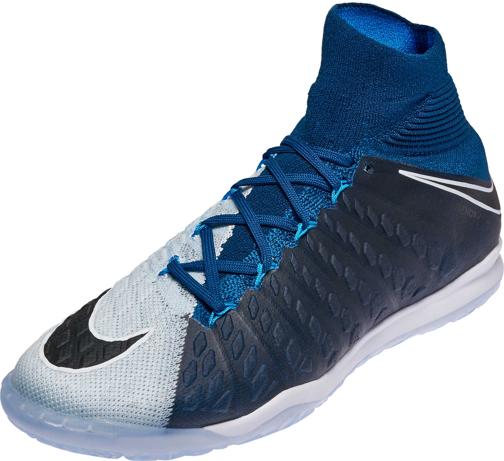 622bd2f95 Nike HypervenomX Proximo II DF IC Soccer Shoes – Brave Blue & Black.  CLEARANCE ...