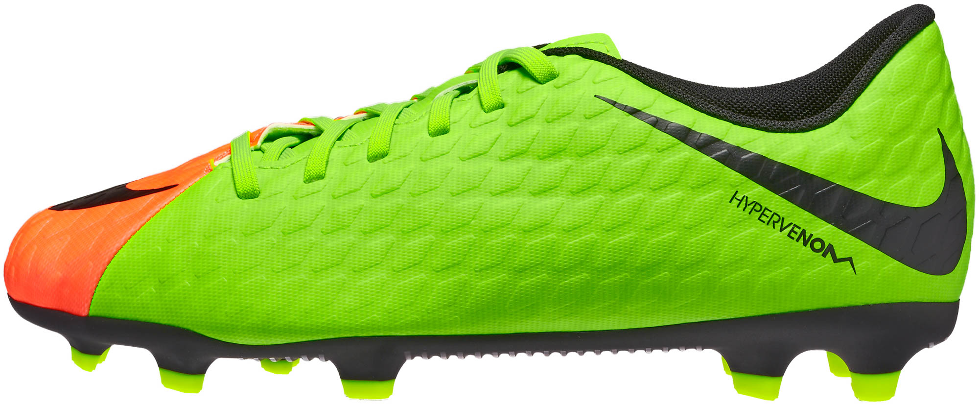 5cca3047cec9c Nike Kids Hypervenom Phade III FG Soccer Cleats - Electric Green ...