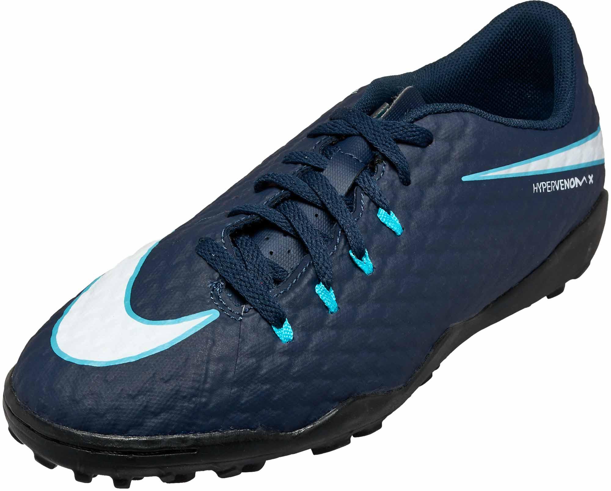 f6329b941ae06 Nike Kids HypervenomX Phelon III TF - Obsidian & White - Soccer ...