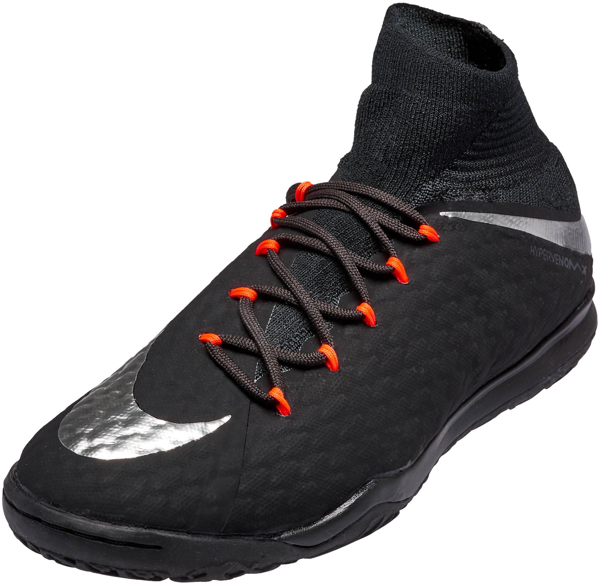 5831eae3f Nike Kids HypervenomX Proximo II IC Soccer Cleats – Black & Anthracite.  CLEARANCE ...