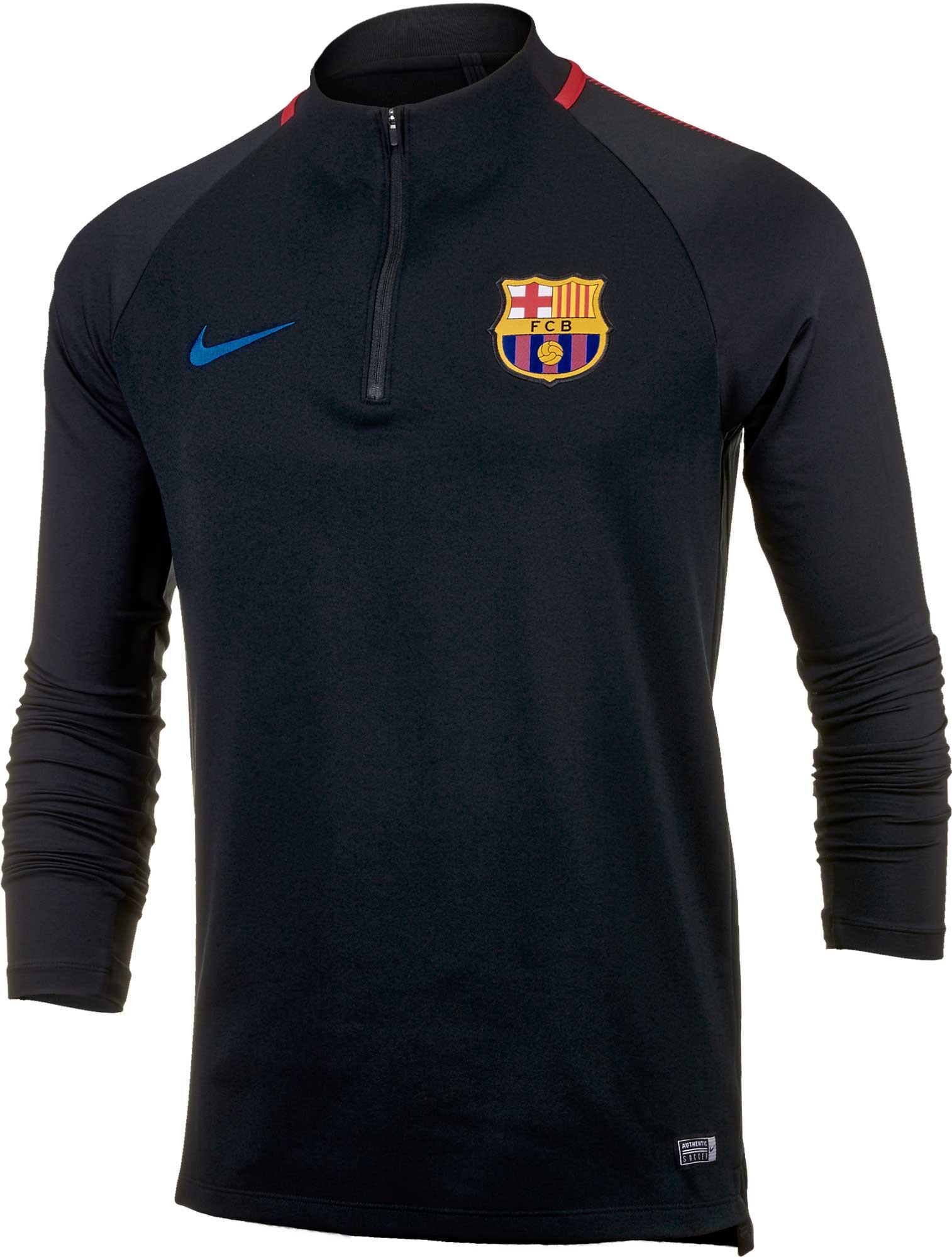 64b777cd386 Nike Barcelona Squad Drill Top - Black & University Red - Soccer Master