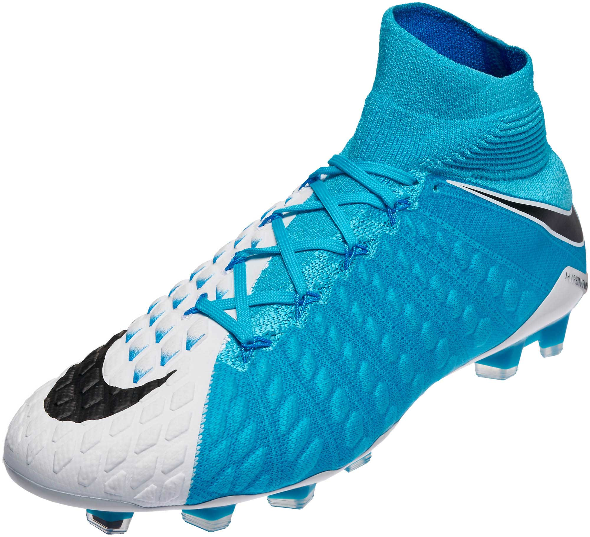 Nike Hypervenom Phantom III DF FG Soccer Cleats - White ...