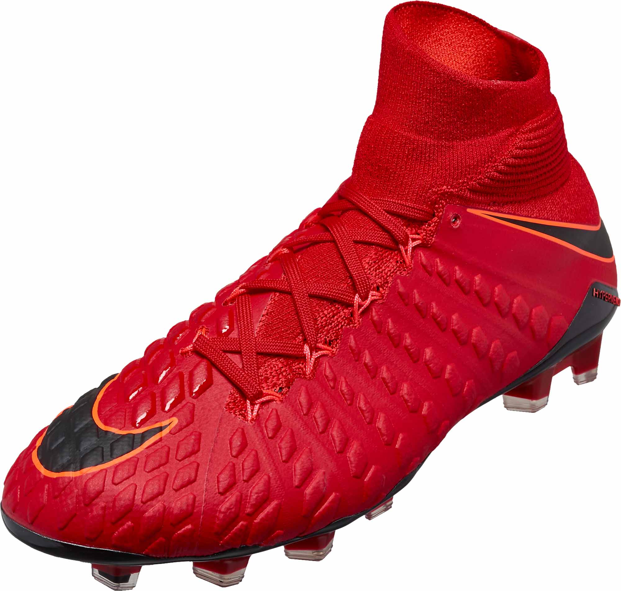 Nike Hypervenom Phantom III DF FG - University Red  Black -