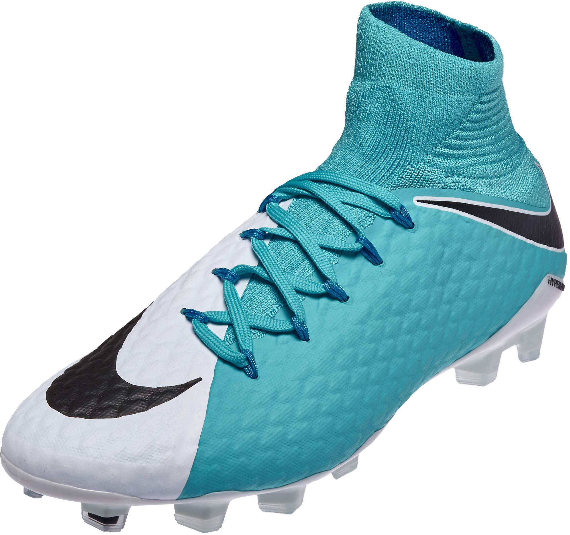 Nike Hypervenom Phatal III DF FG Soccer Cleats - White   Photo Blue ... e40f95e042bb3