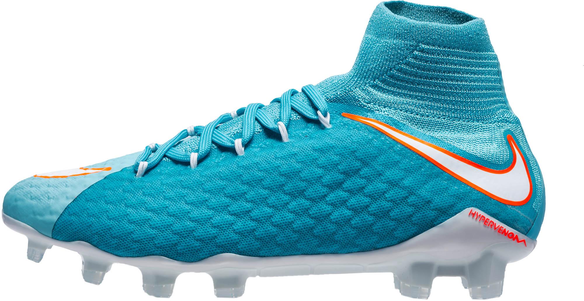 Nike Womens Hypervenom Phatal III DF FG Soccer Cleats - Polarized ... 032eef1559