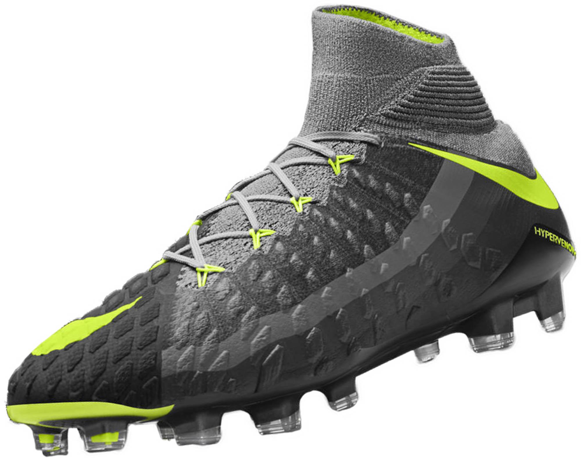 c2edd346684 Nike Hypervenom Phantom III DF FG Soccer Cleats – SE – Wolf Grey   Volt