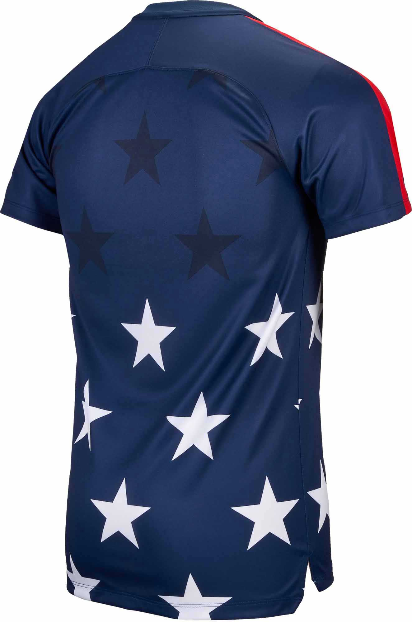 1dd78931d Nike USA Gold Cup Pre-Match Top - Midnight Navy & University Red ...