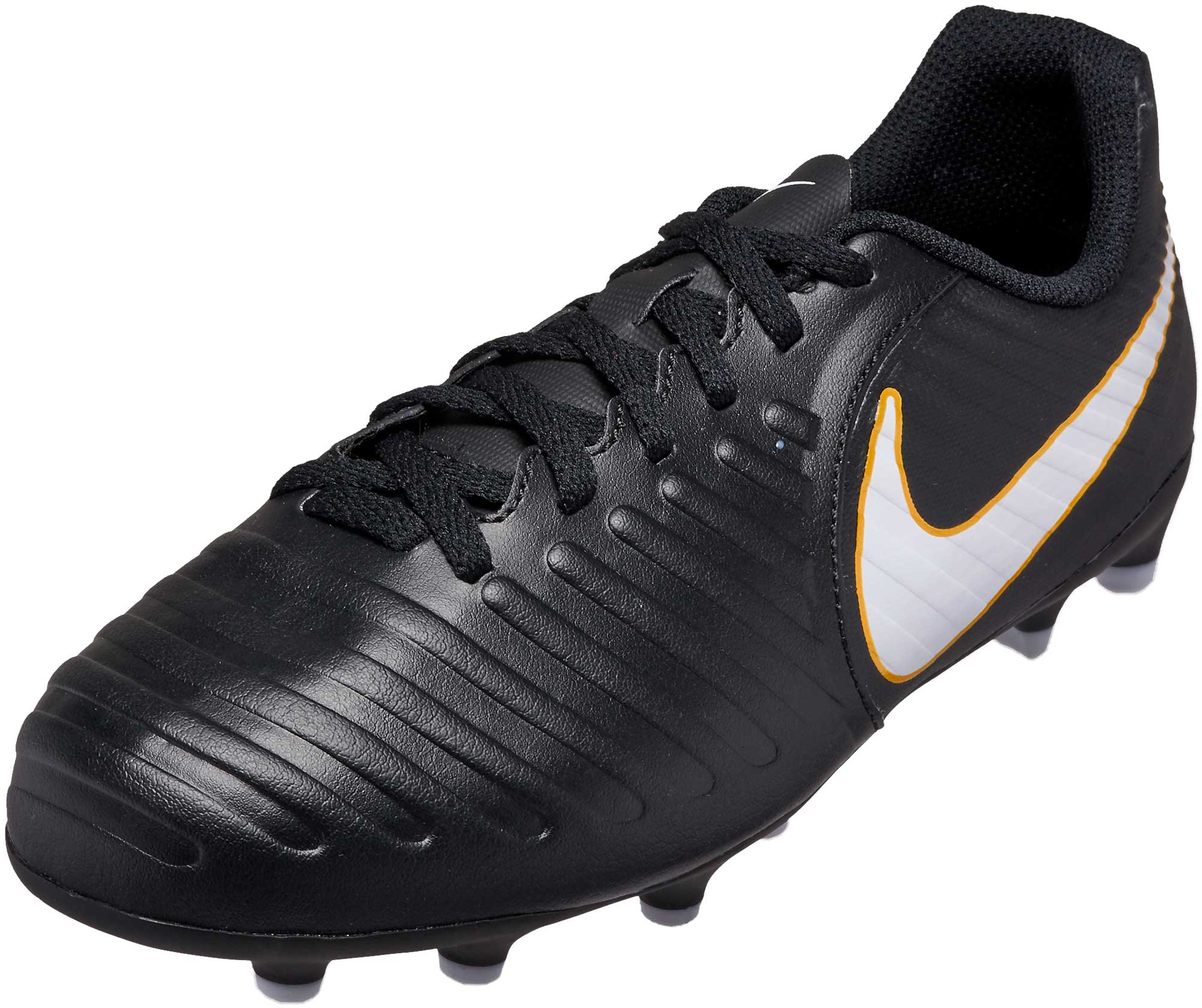 d24abb3bc83f26 Nike Kids Tiempo Rio IV FG Soccer Cleats - Black   White - Soccer ...