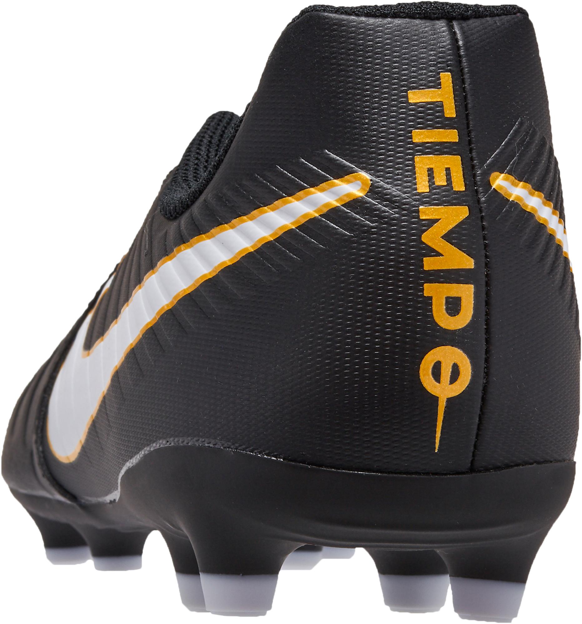 59ff9cc0bda7b9 Nike Kids Tiempo Rio IV FG Soccer Cleats - Black   White - Soccer Master