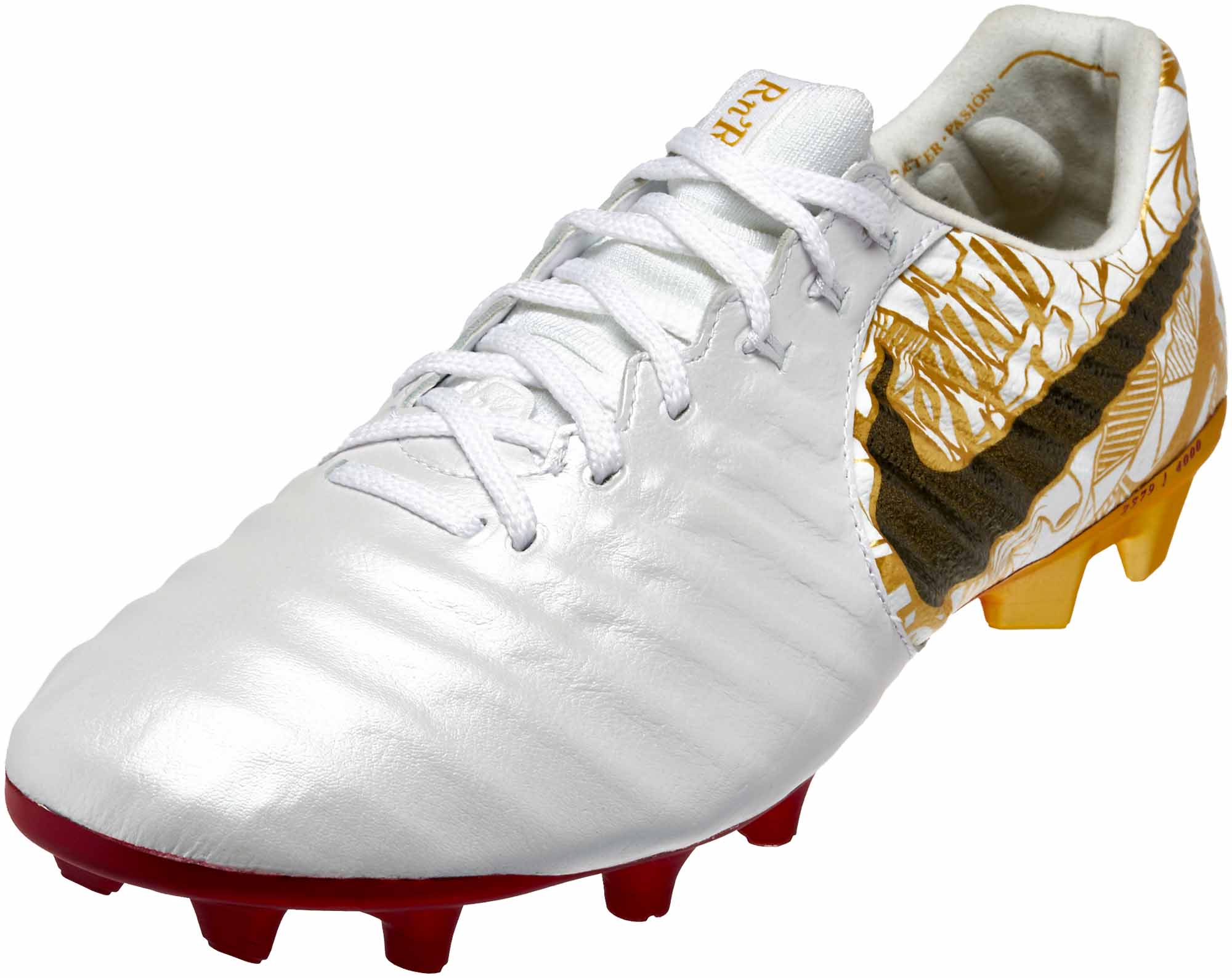 White Shoes With Gold Studs
