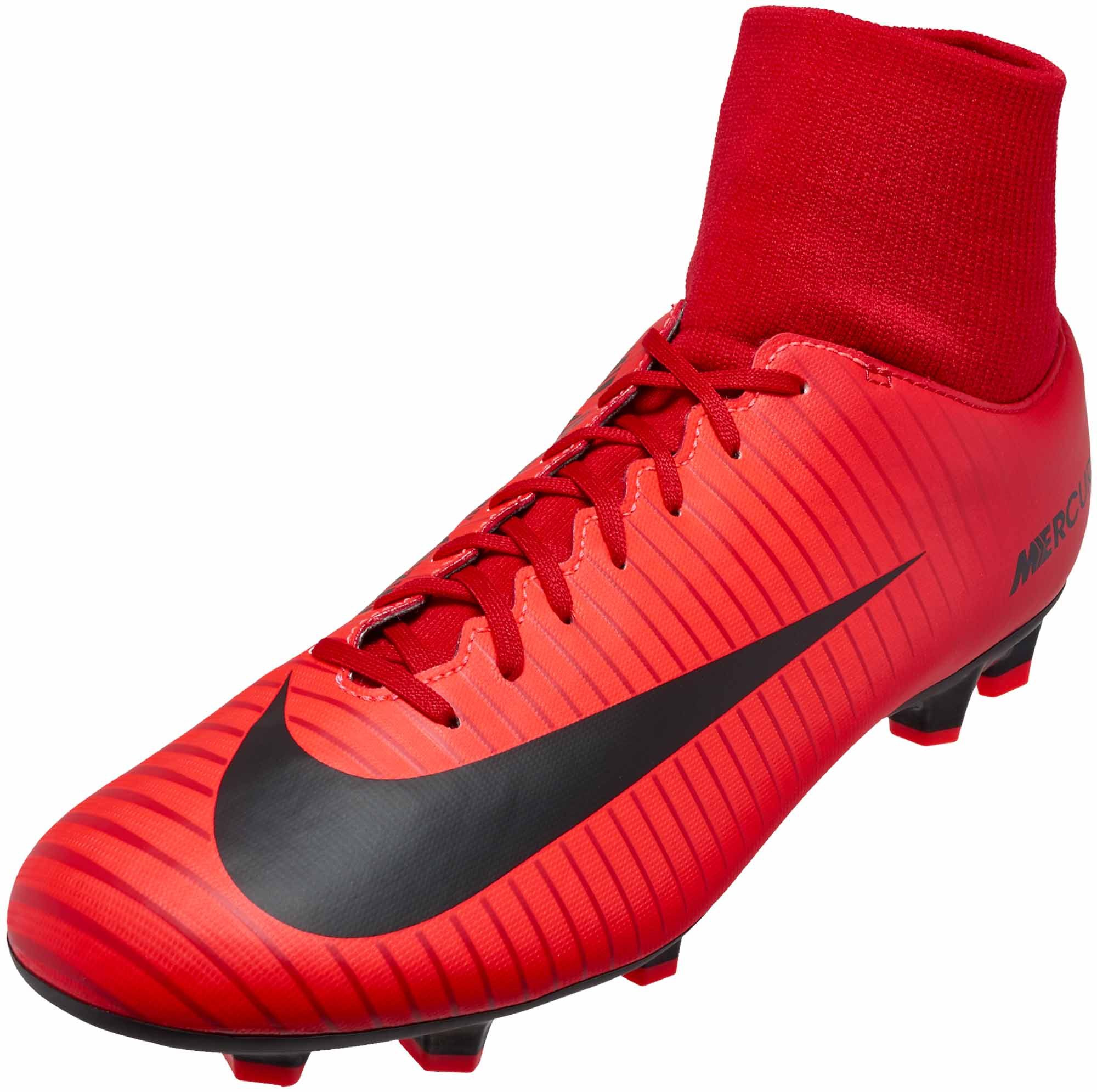 a3a6a618a Nike Mercurial Victory VI DF FG - University Red   Black - Soccer Master