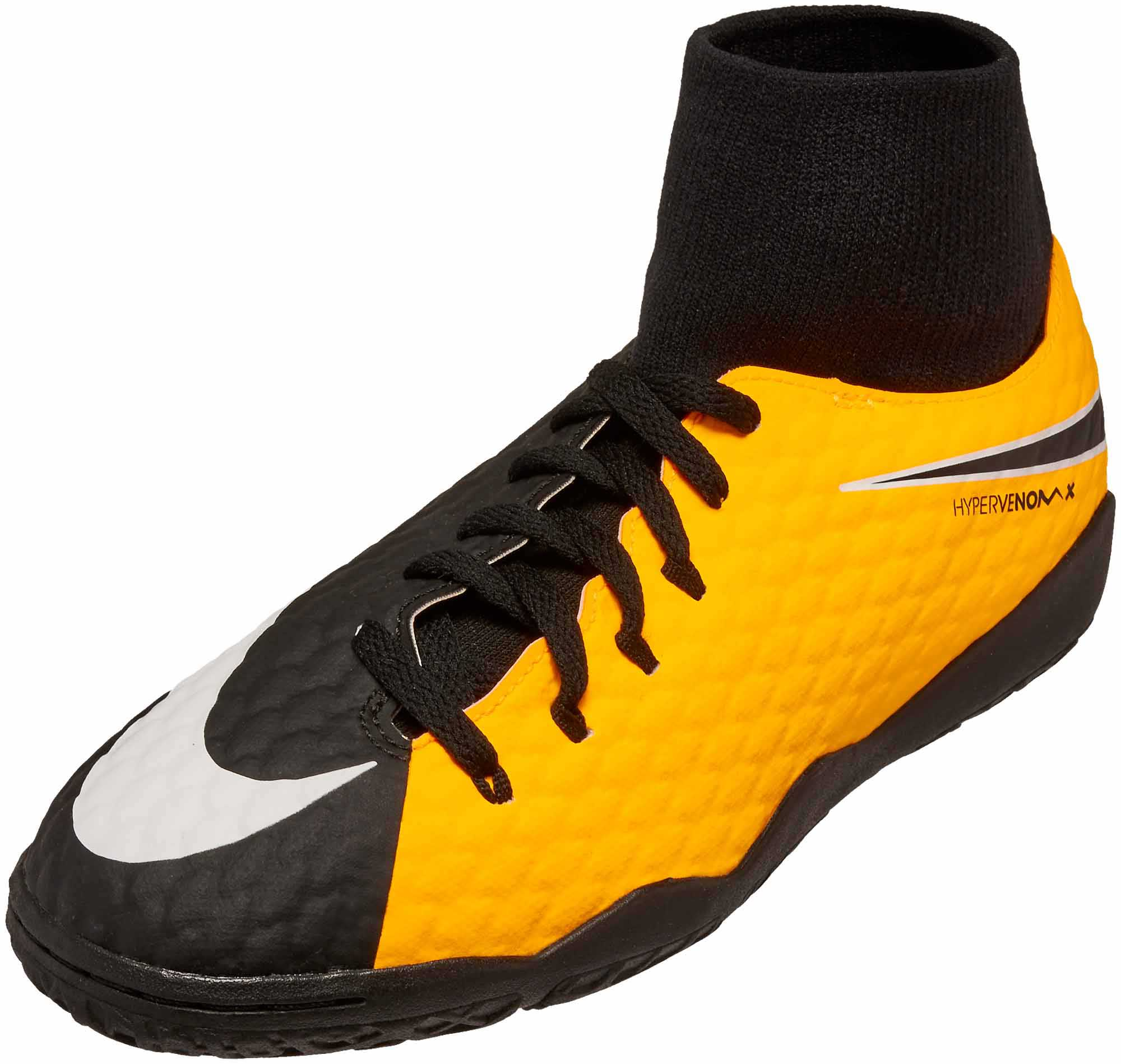 74f18fa20c6d Nike Kids Hypervenom Phelon III DF IC - Laser Orange   Black ...