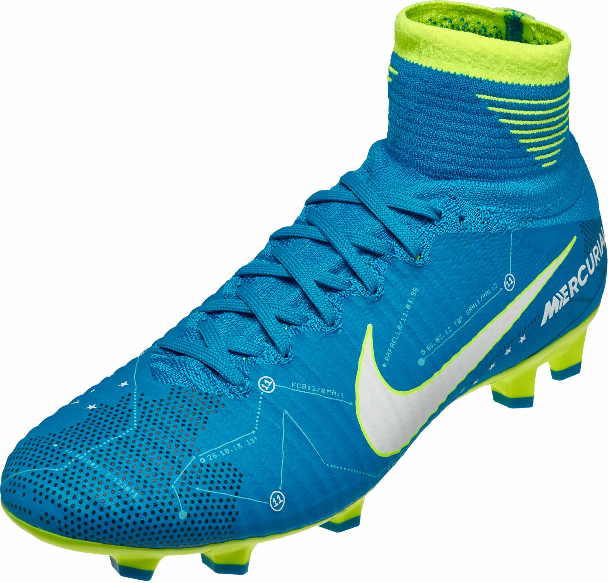 best sneakers 9fc22 07be8 Nike Kids Mercurial Superfly V FG – Neymar – Blue Orbit   White