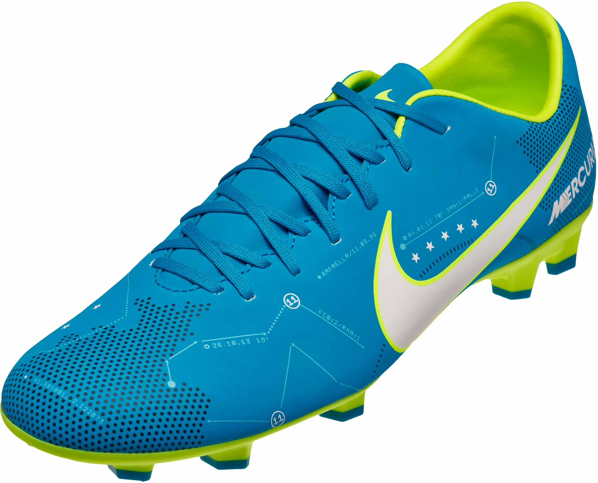 new style e5498 7916b Nike Mercurial Victory VI FG Soccer Cleats - Neymar - Blue ...