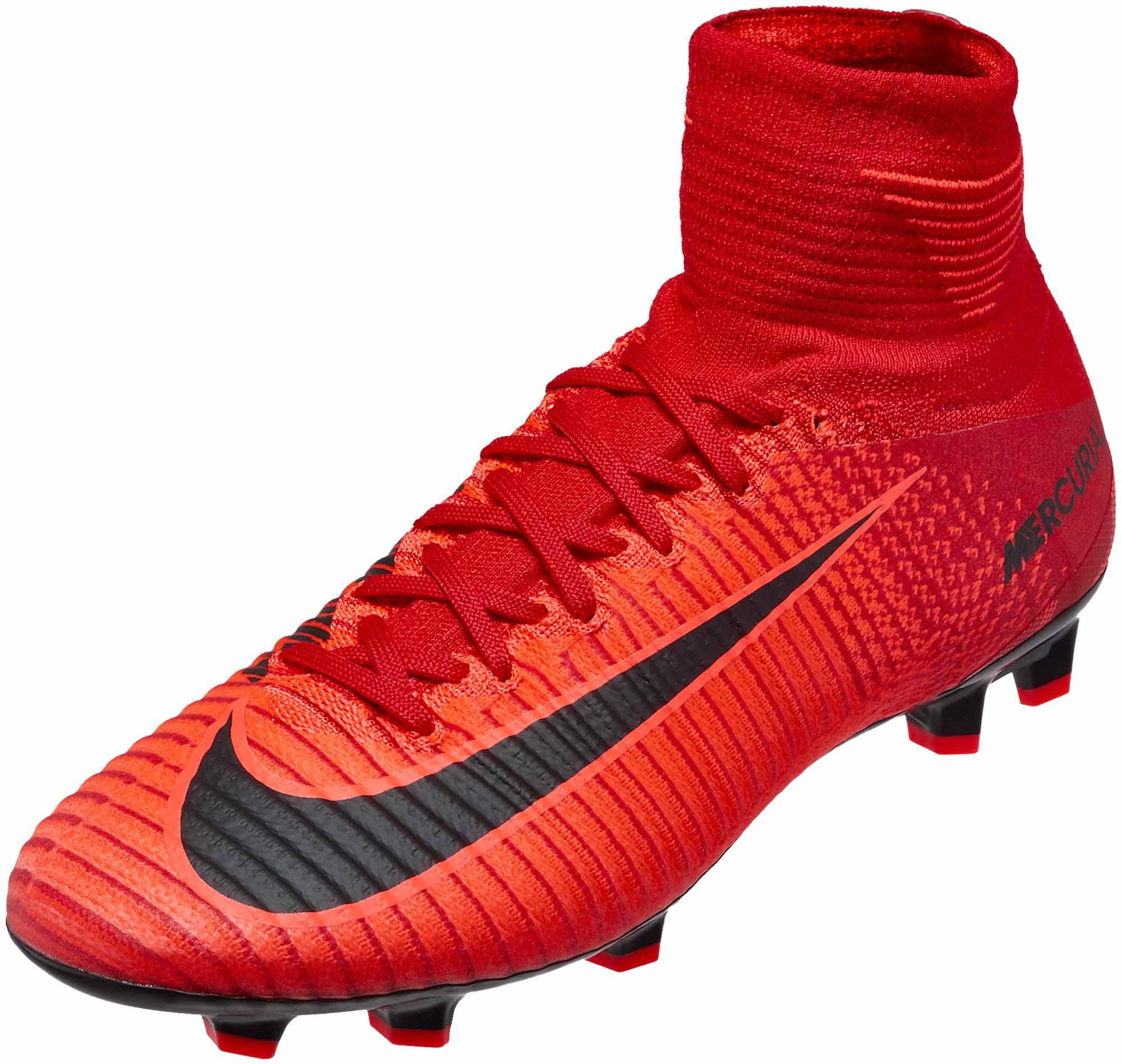 Nike Kids Mercurial Superfly V FG - University Red   Black - Soccer ... f9996d7bfee1