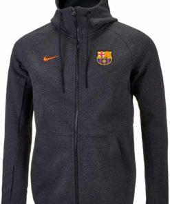 08cbc0a1d630 Nike Barcelona Tech Fleece Windrunner Jacket - Black Heather   Hyper ...