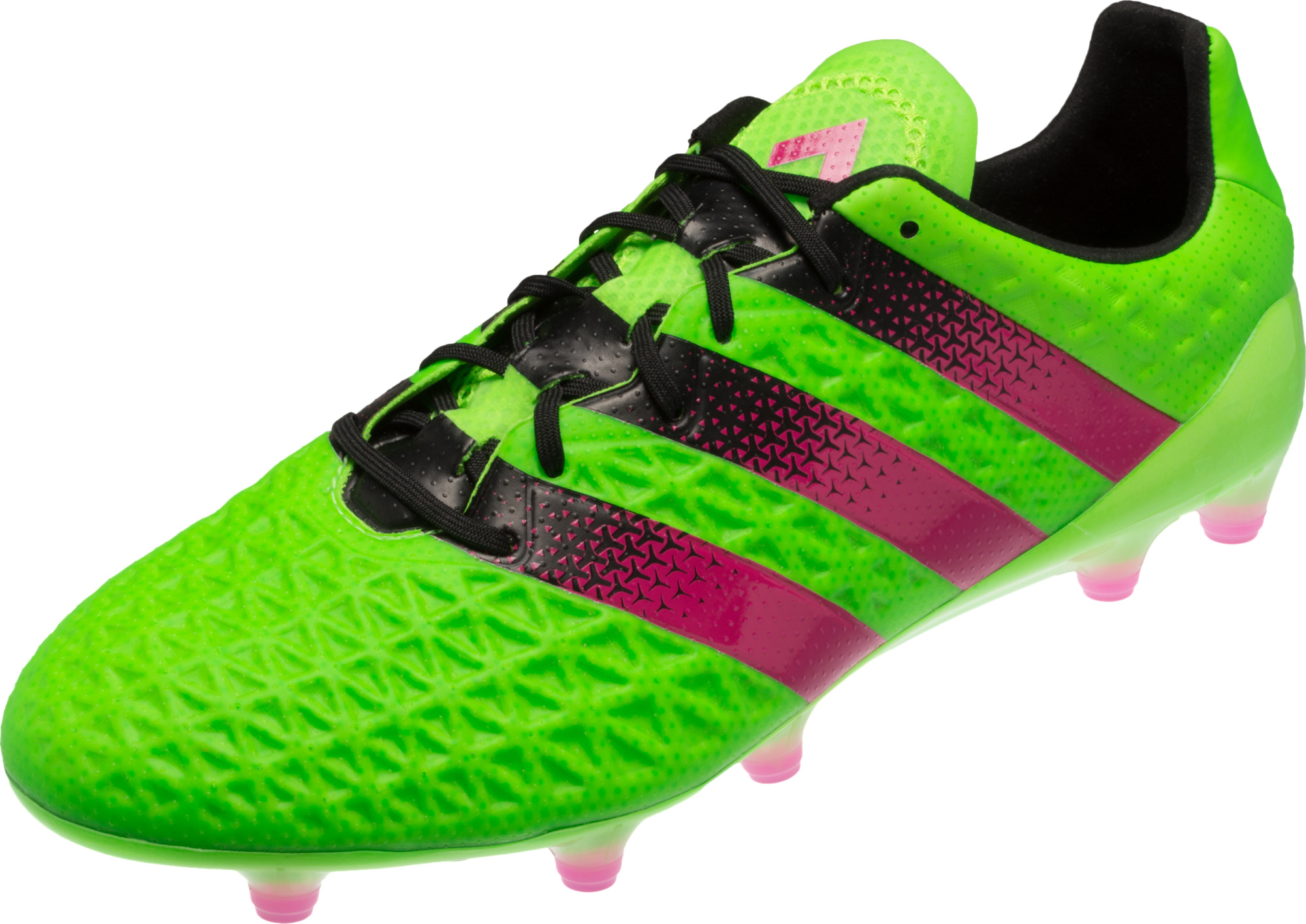 d42c2f0ca adidas ACE 16.1 FG Soccer Cleats - Solar Green Shock Pink - Soccer ...