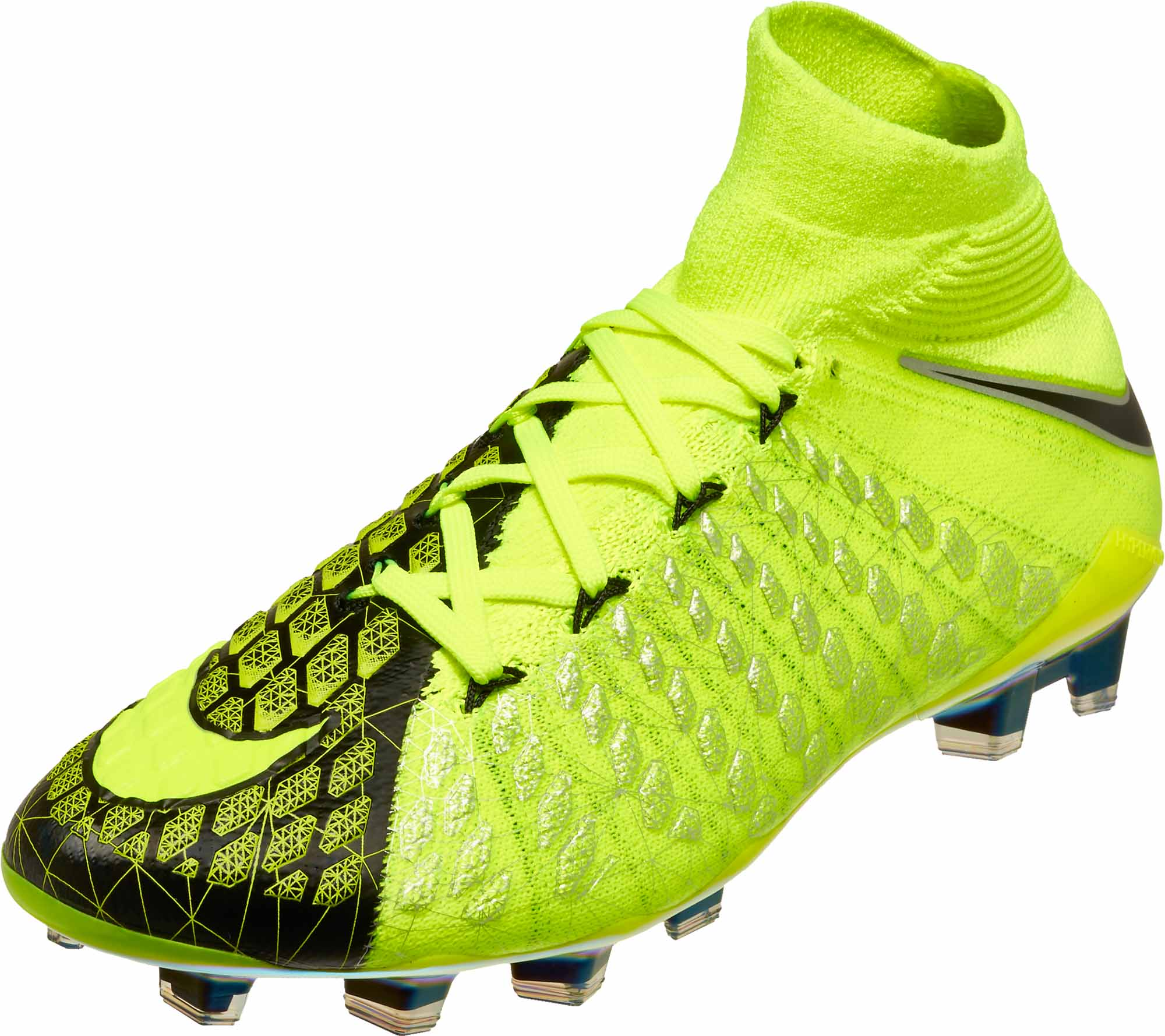 8cd2ba0f313d Nike Kids Hypervenom Phantom III DF FG - EA Sports - Volt   Black ...