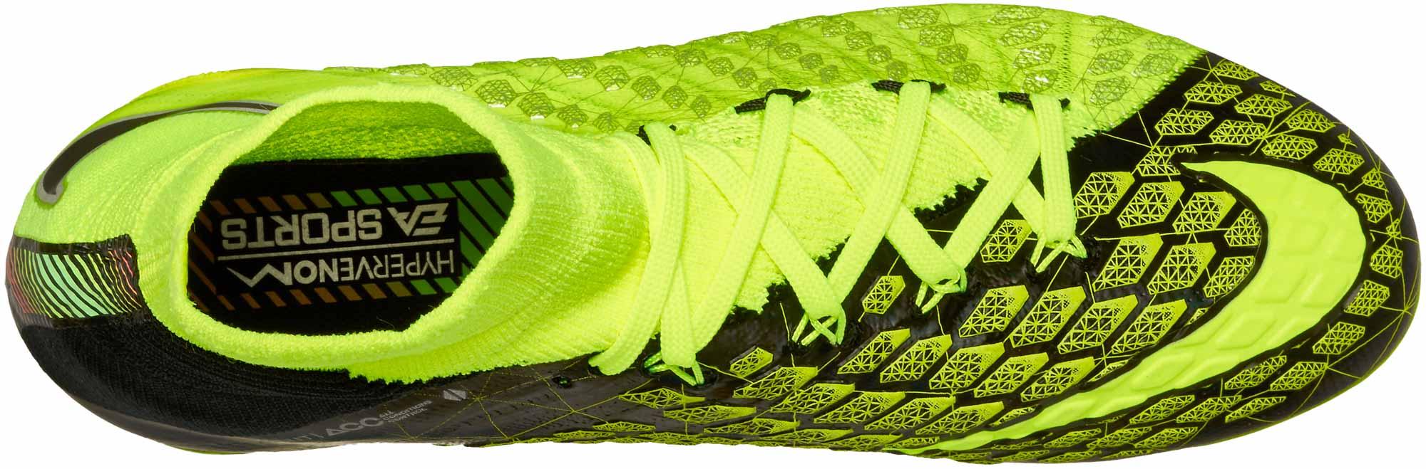 hot sale online dcea2 5cb9e Nike Kids Hypervenom Phantom III DF FG - EA Sports - Volt ...